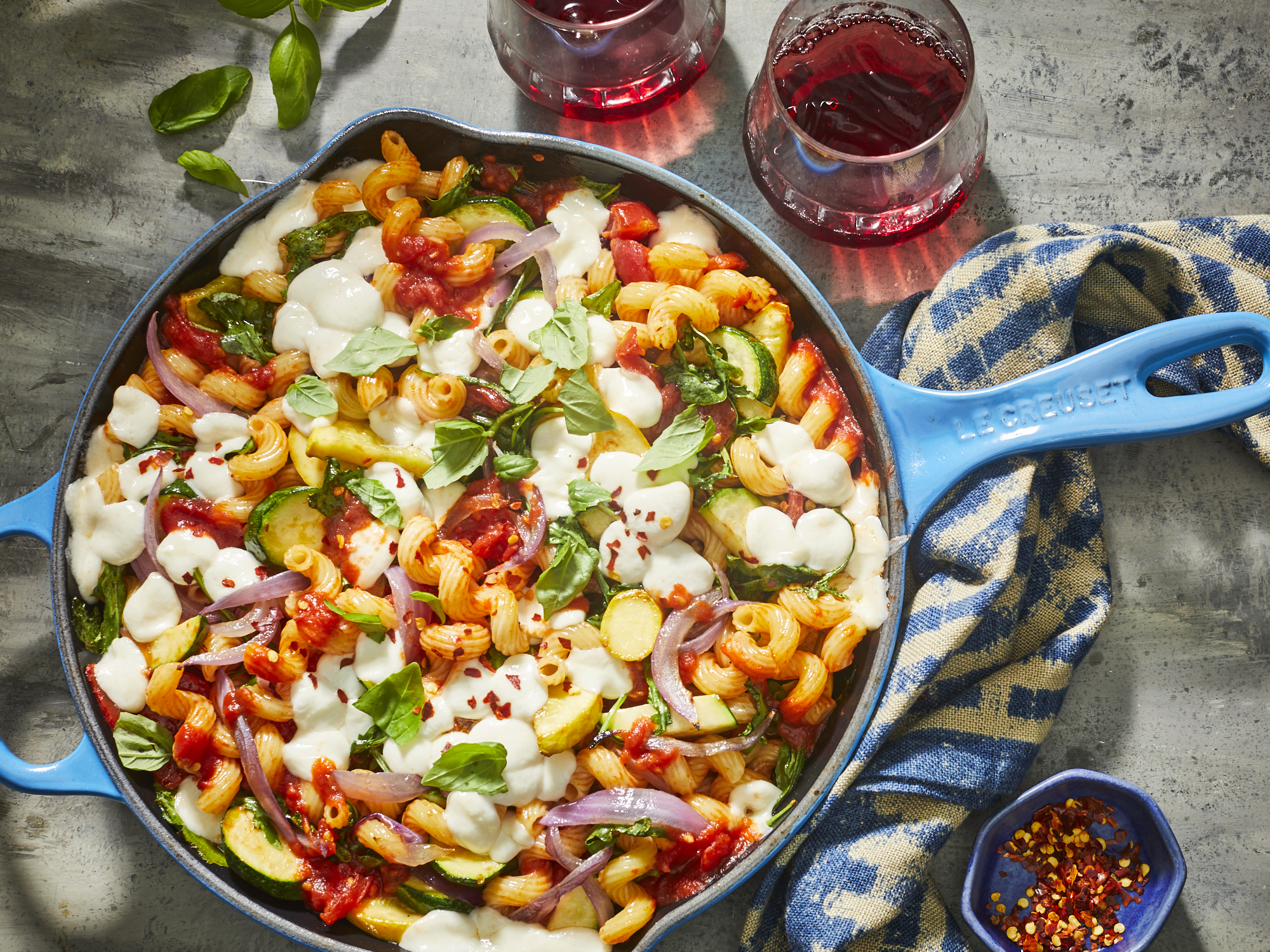 Single-Skillet Cavatappi Ratatouille