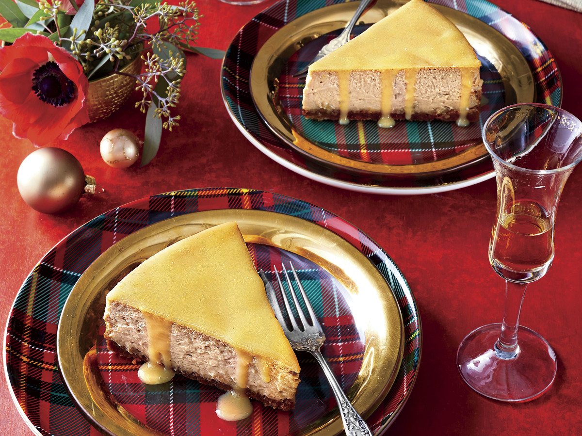Gingerbread Cheesecake with Lemon-Ginger Glaze