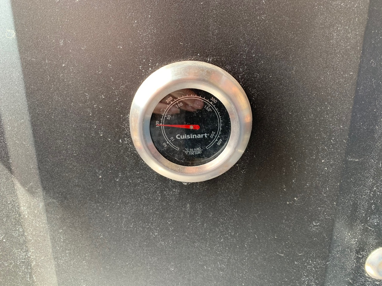 smoker temp on 100