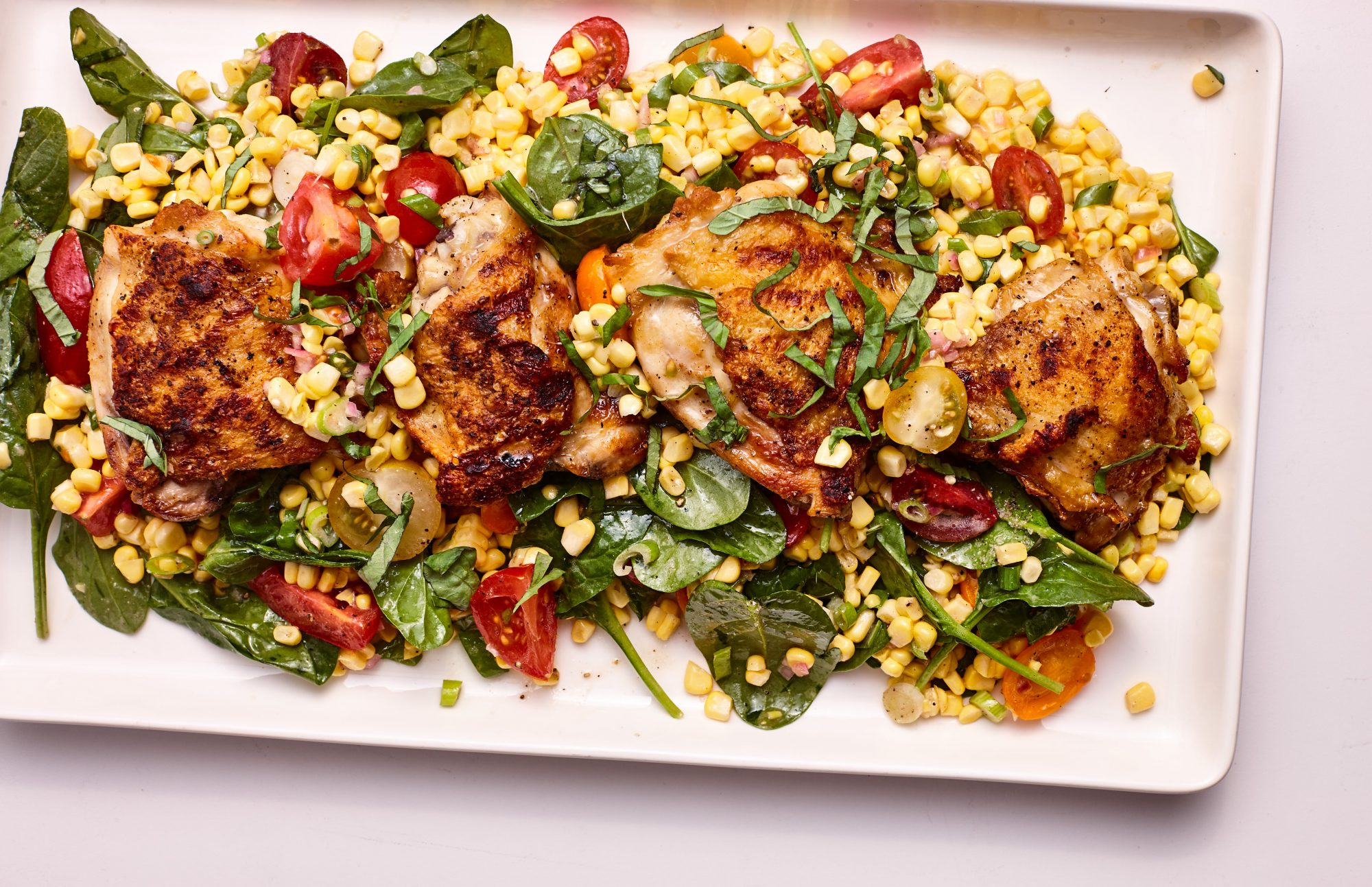 mr-Grilled Chicken and Corn Salad