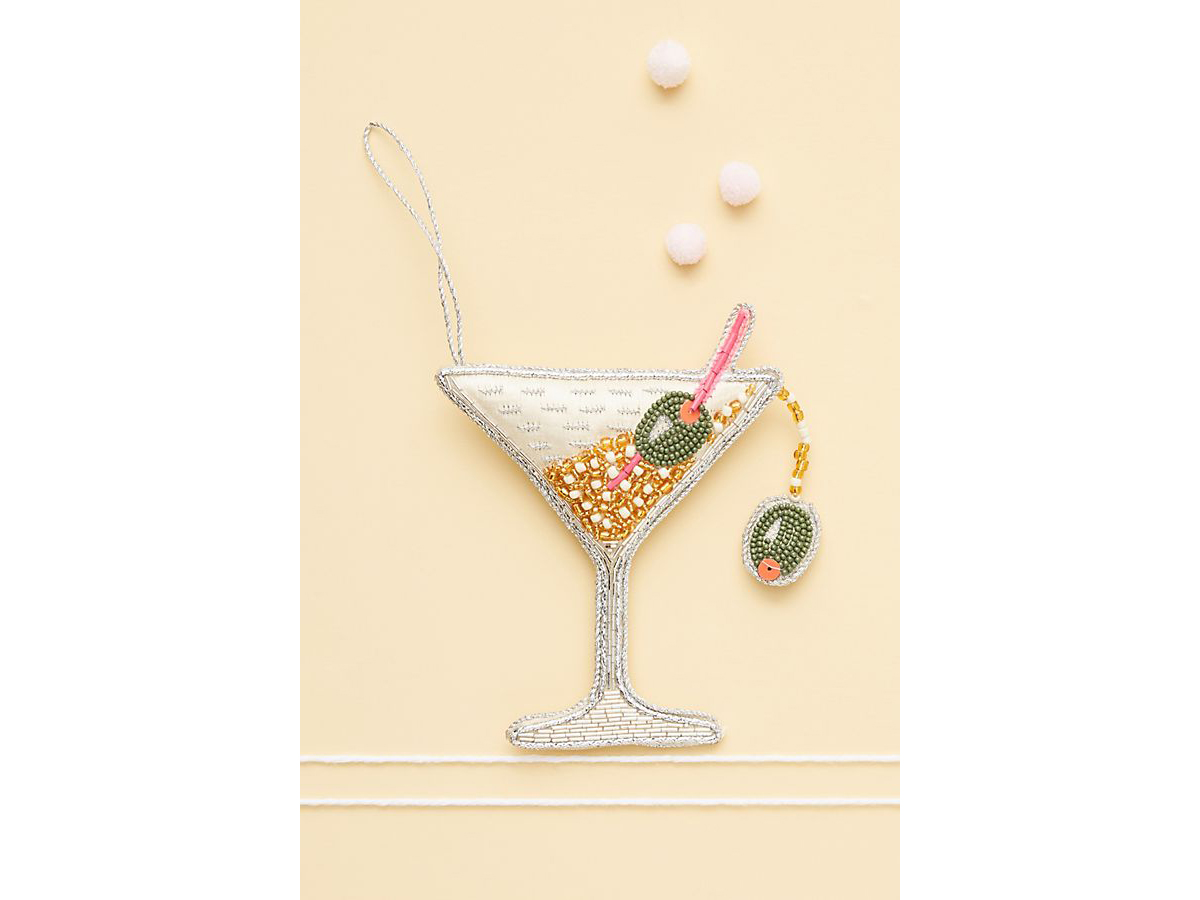 Beaded Martini Ornament