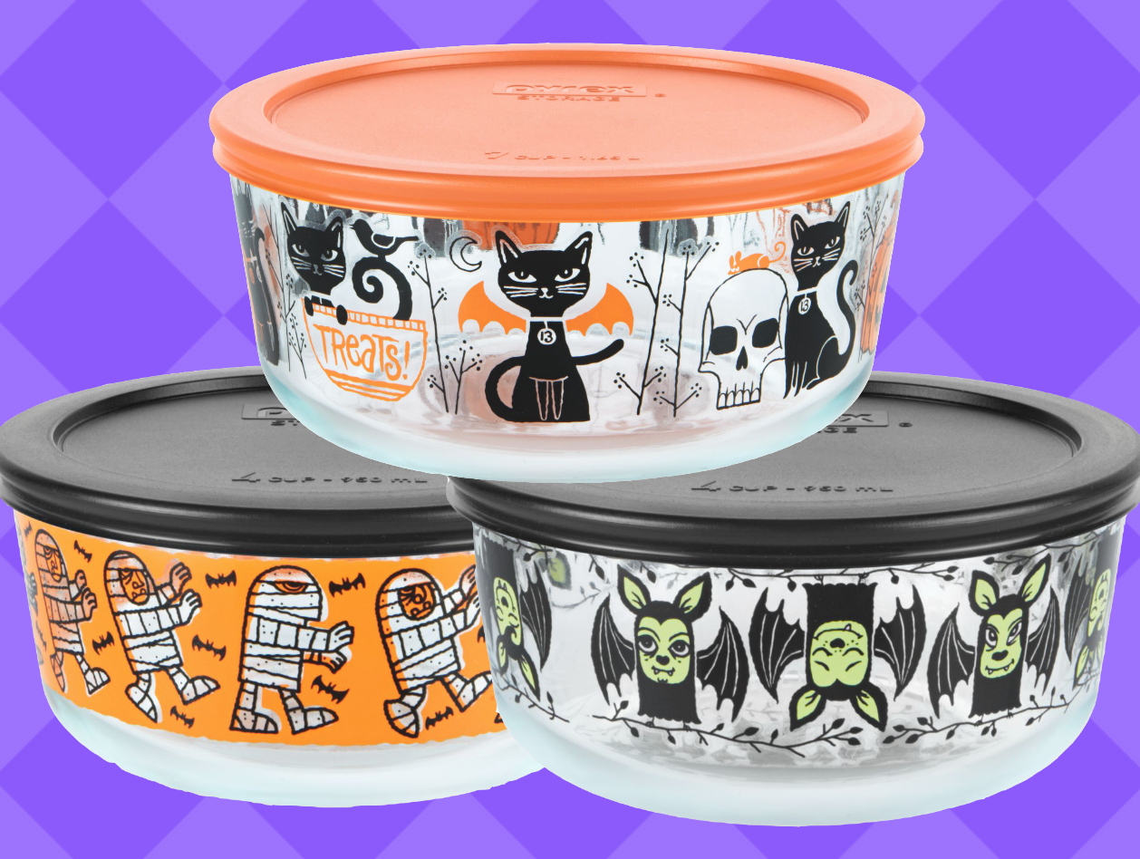 Pyrex Halloween 2020 PSA: You Can Buy These Adorable Halloween Pyrex Containers at