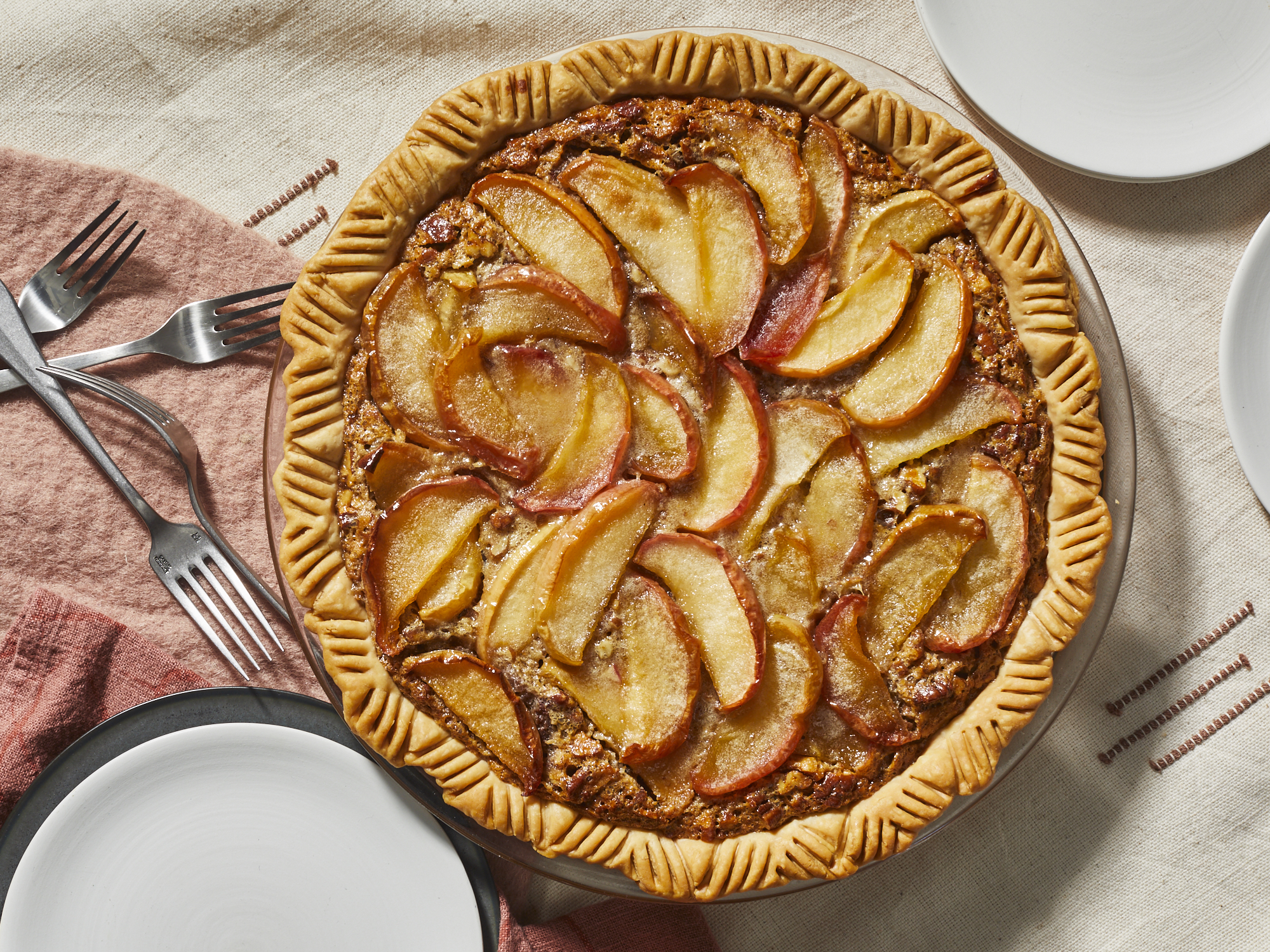 mr-Pecan, Apple, and Pumpkin Pie Image