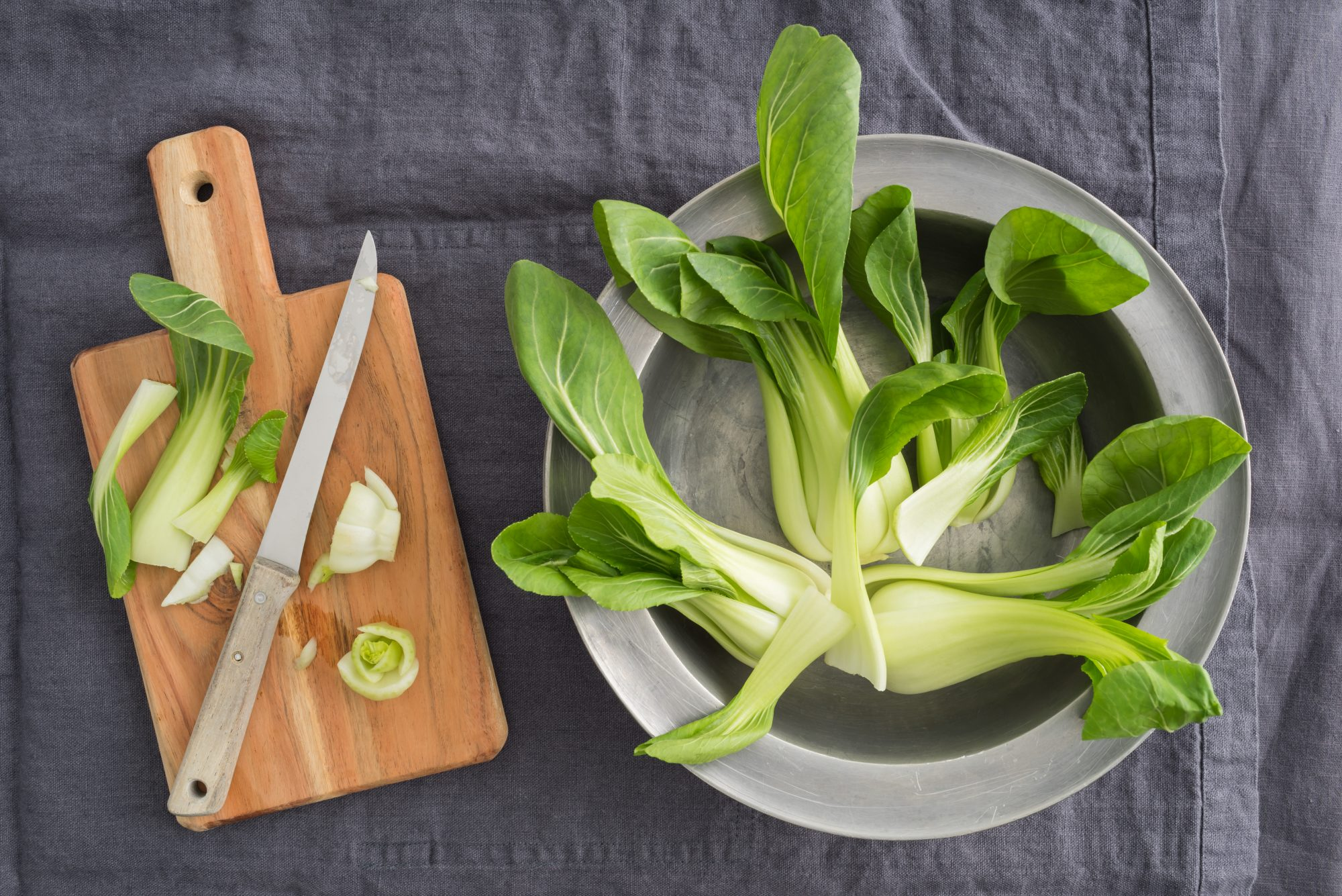 Cutting Bok Choy 12/20/19