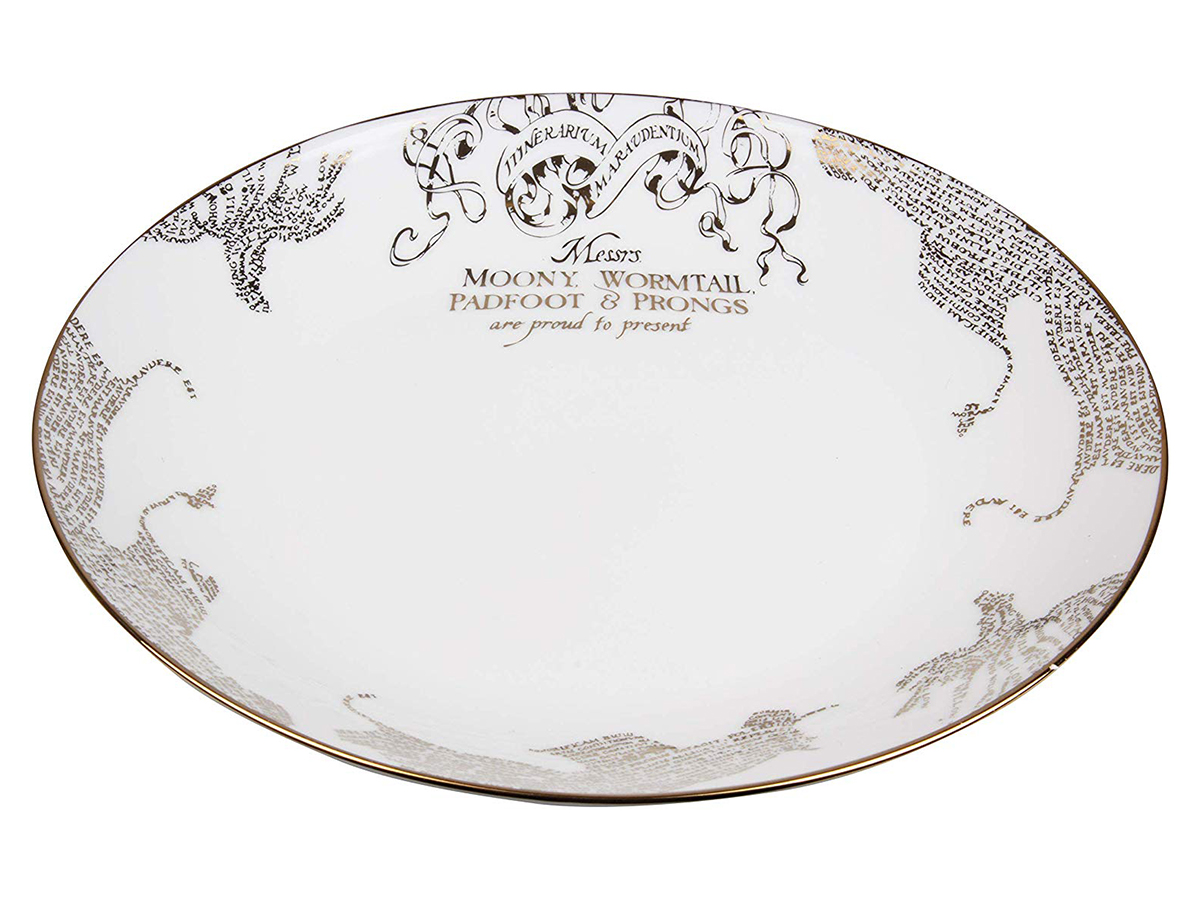 Harry Potter Marauder's Map Porcelain 4 Piece Dinner Plate