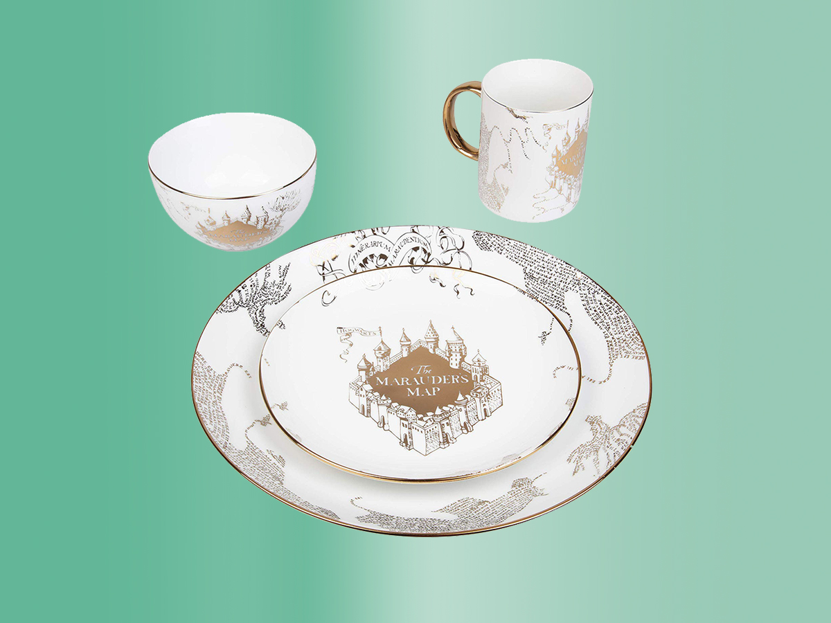 Harry Potter Marauder's Map Porcelain 4 Piece Tout