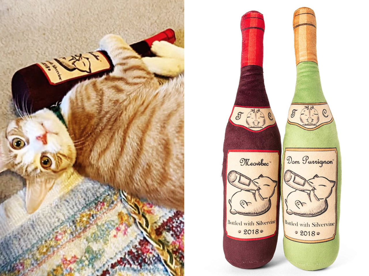 My Kitten Is Obsessed With This Catnip Wine Bottle Toy From Amazon
