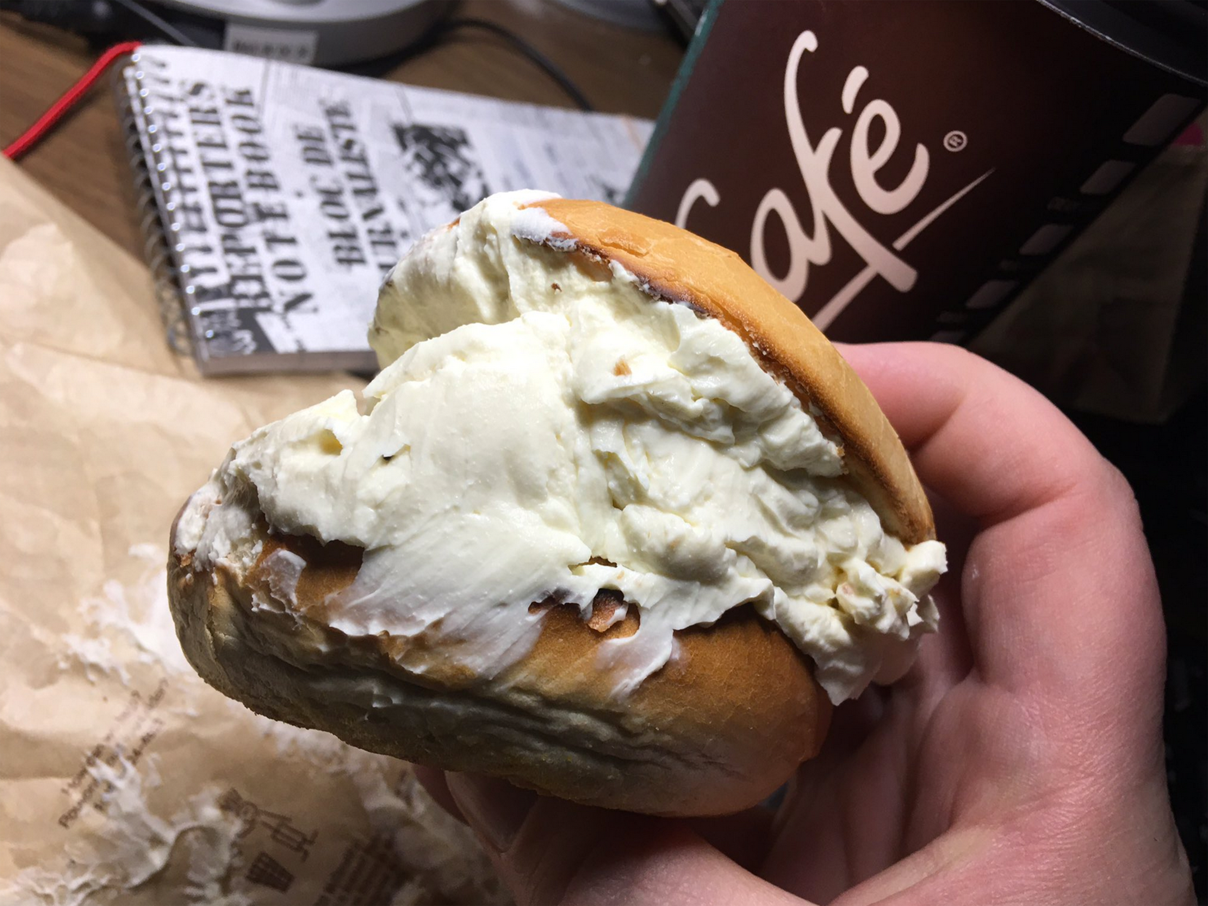 Get a Load of This Bagel With Way Too Much Cream Cheese