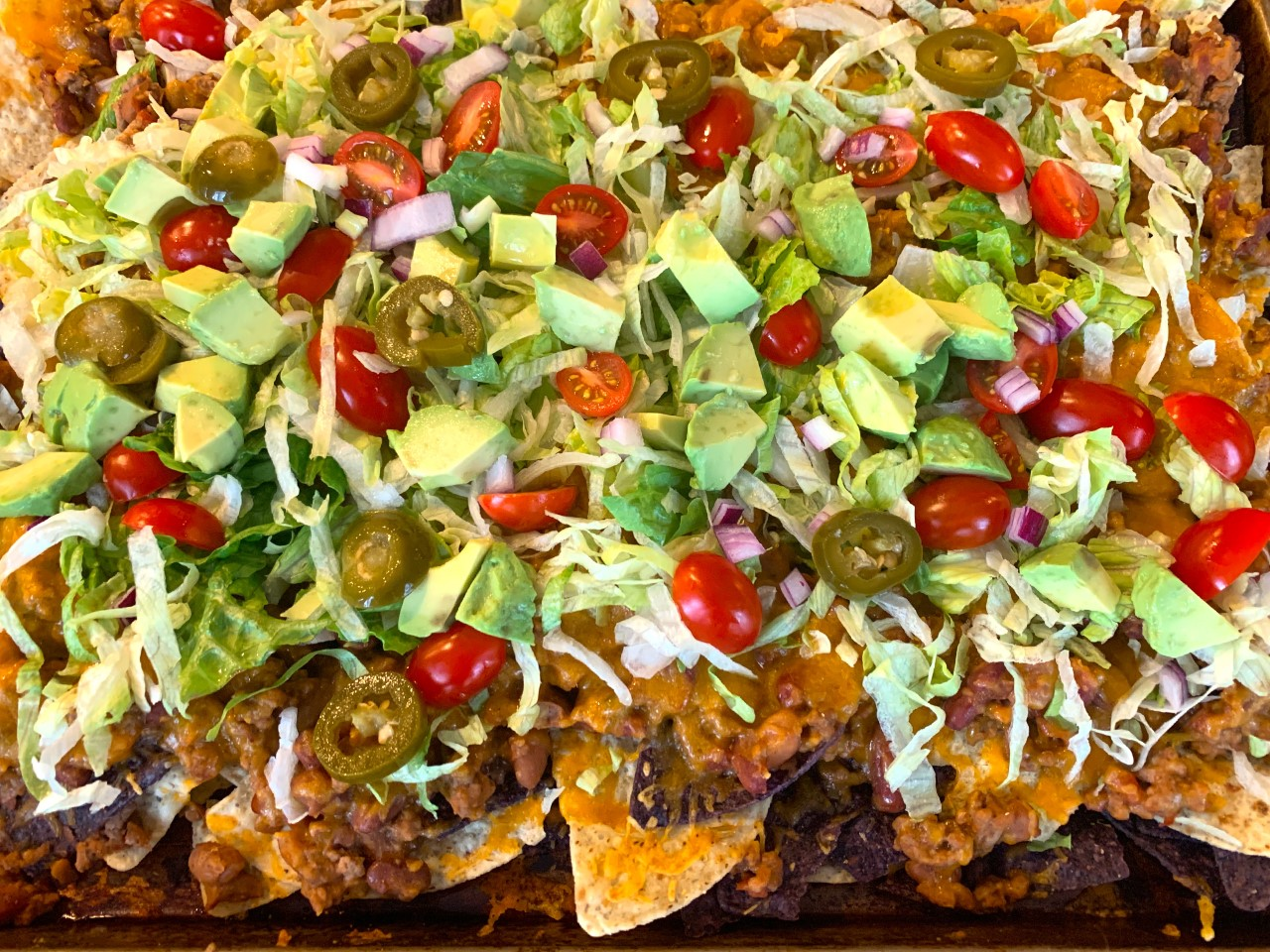 Sheet Pan Beefy Bean Nachos