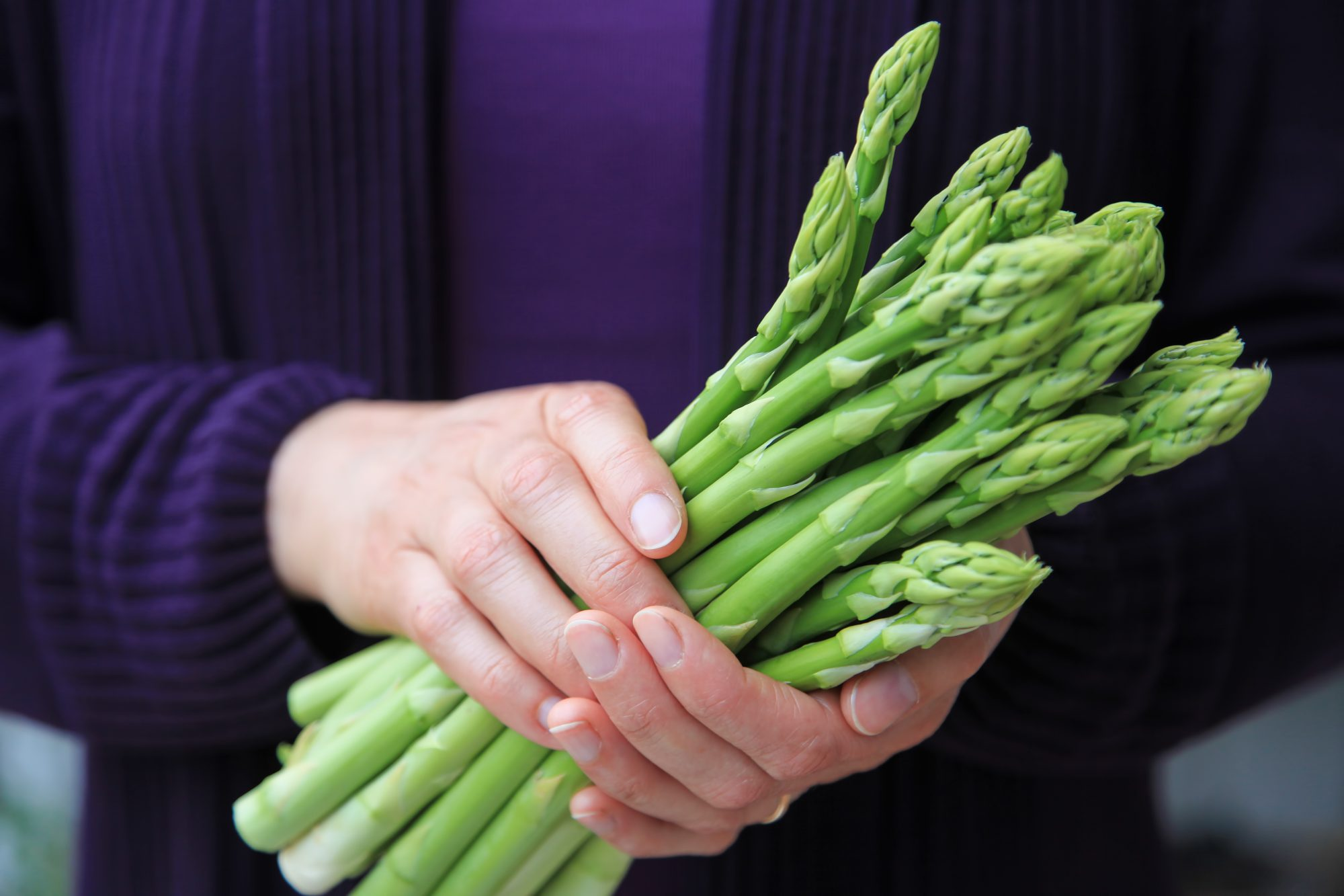 Asparagus in Hands Getty 4/22/20