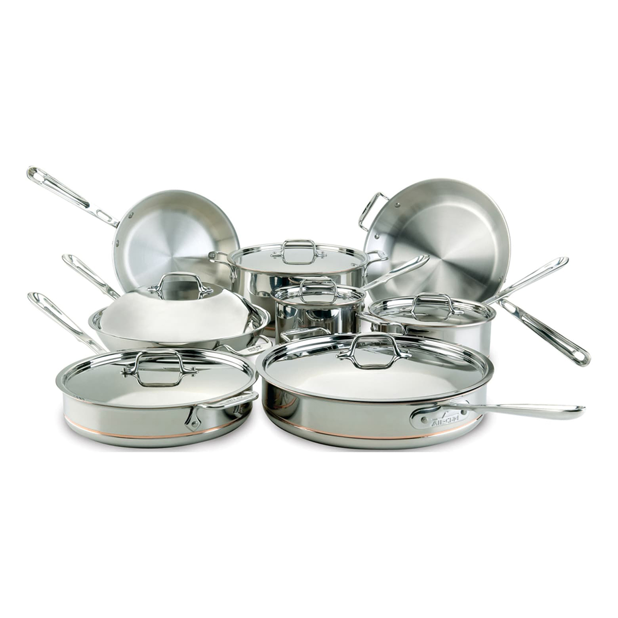 14-Piece Copper Core Stainless Steel Set