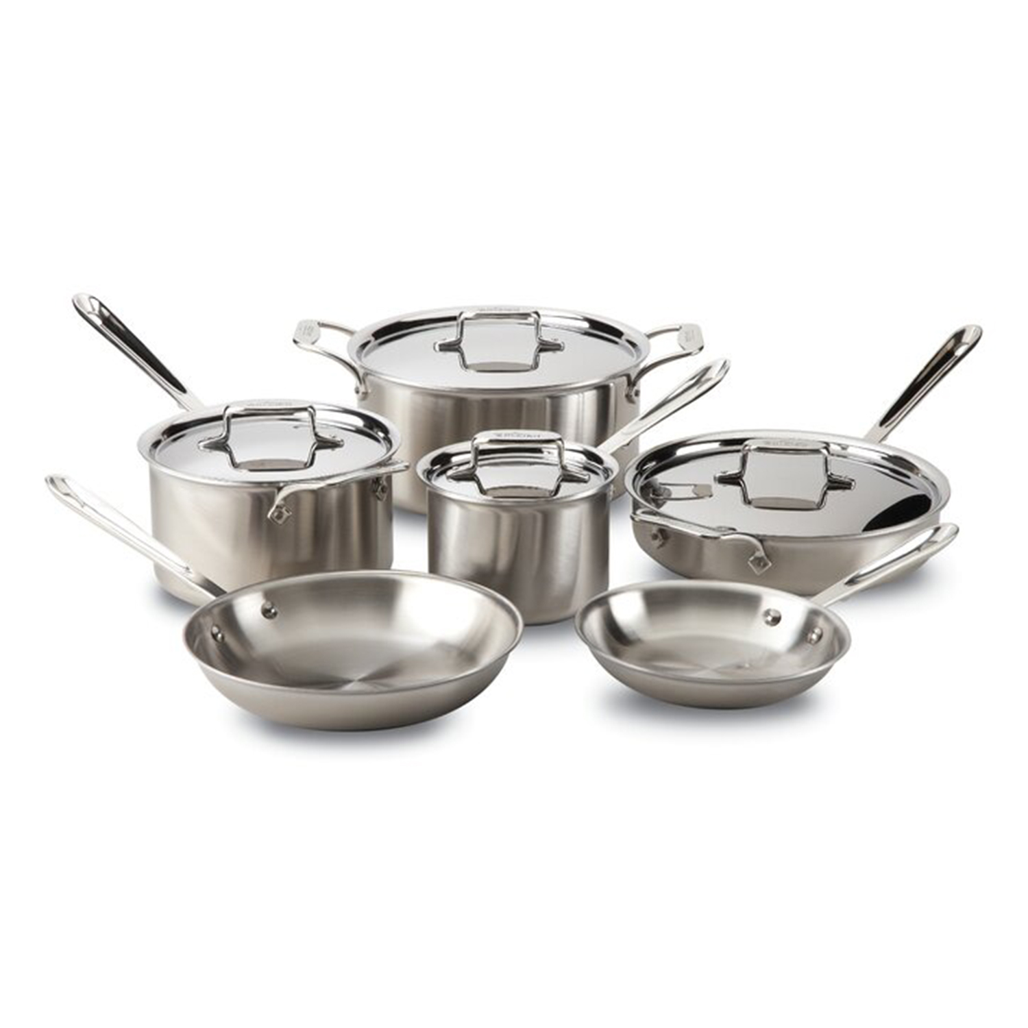 All-Clad D5 Stainless Brushed 10-Piece Aluminum Cookware Set