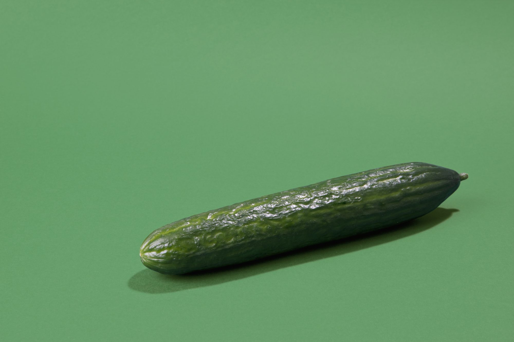 Cucumber on green background Getty 5/22/20