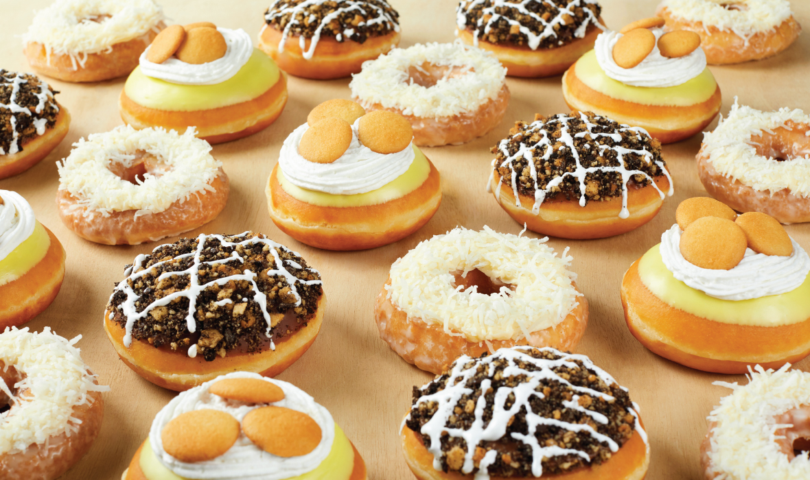 Krispy Kreme Debuts Mississippi Mud Pie, Banana Pudding, and Coconut Cake Doughnuts