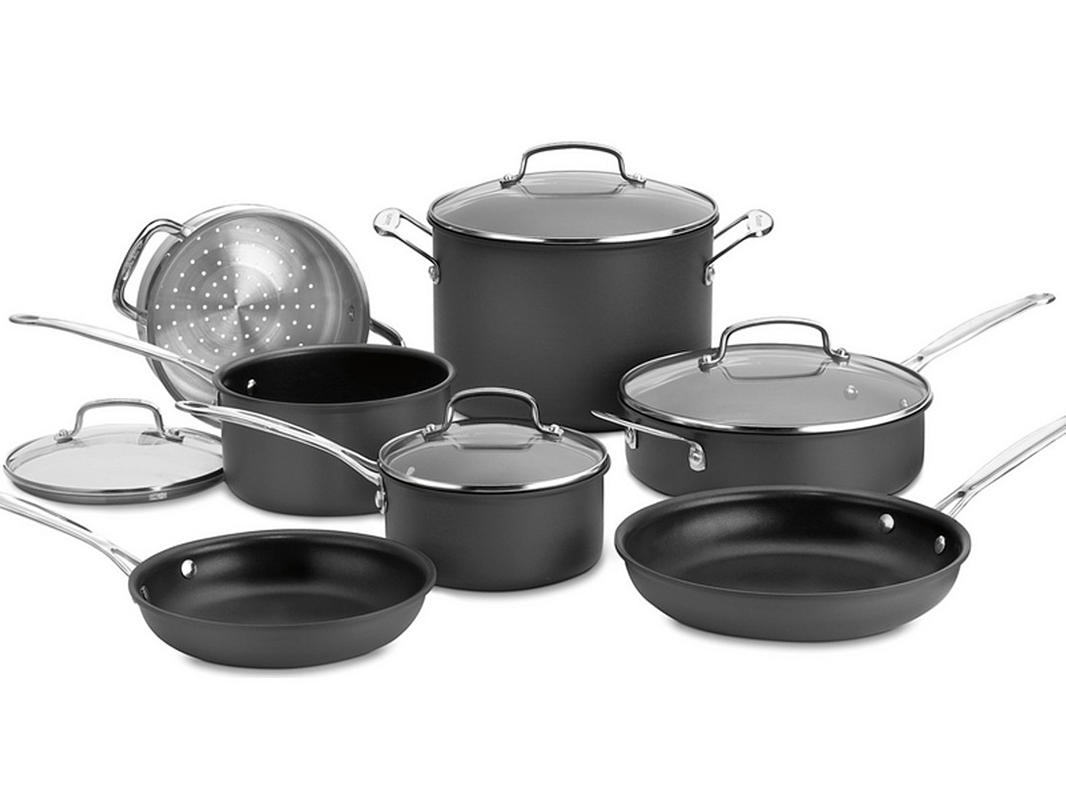 Cuisinart Chefs Classic Hard Anodized 11-Piece Set