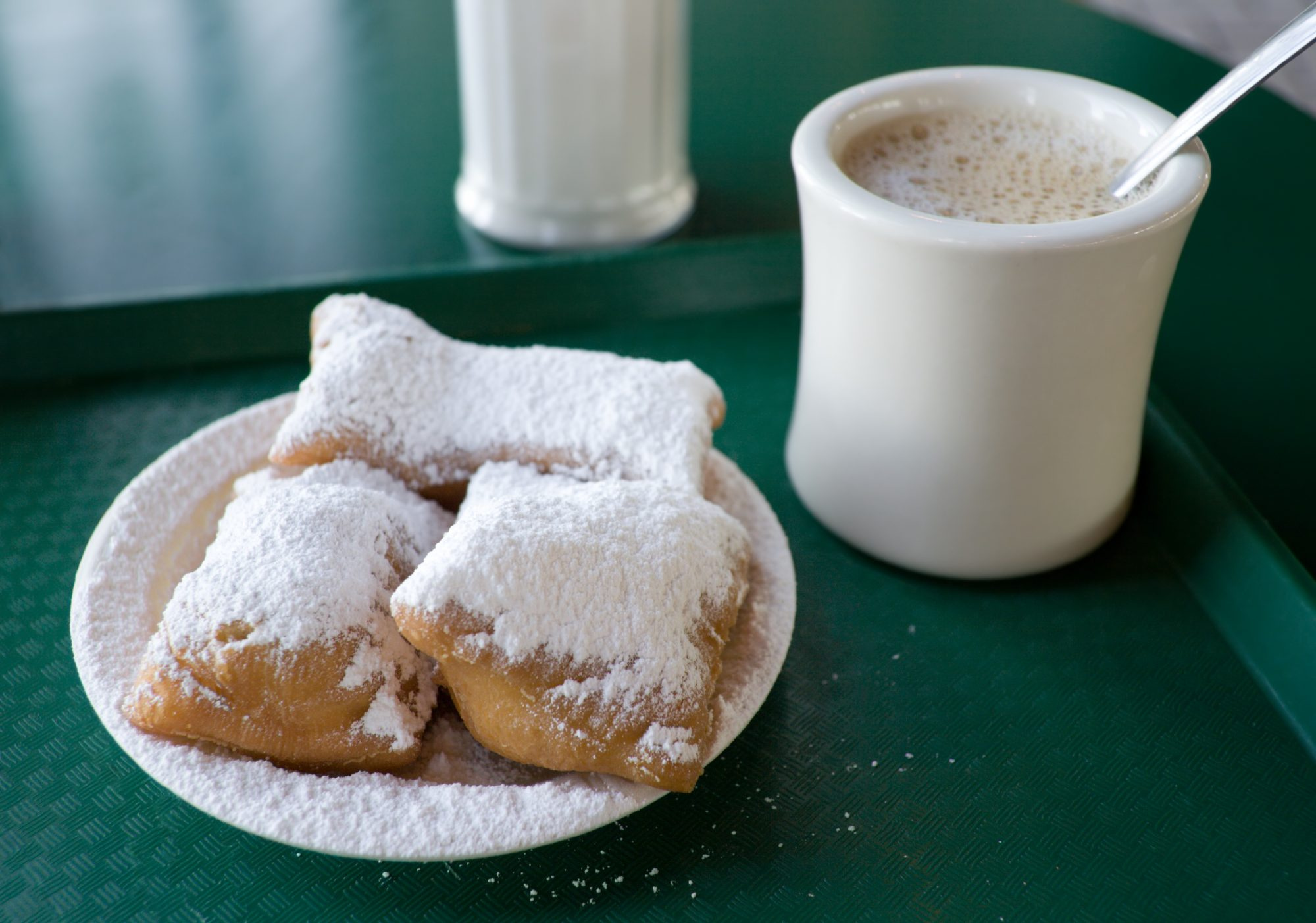 Beignet with one coffee Getty 7/7/20