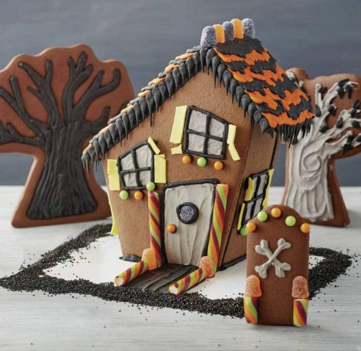 Halloween Cookie Houses Are the New Gingerbread Houses—and You Can Buy Them Right Now -- spooky haunted house