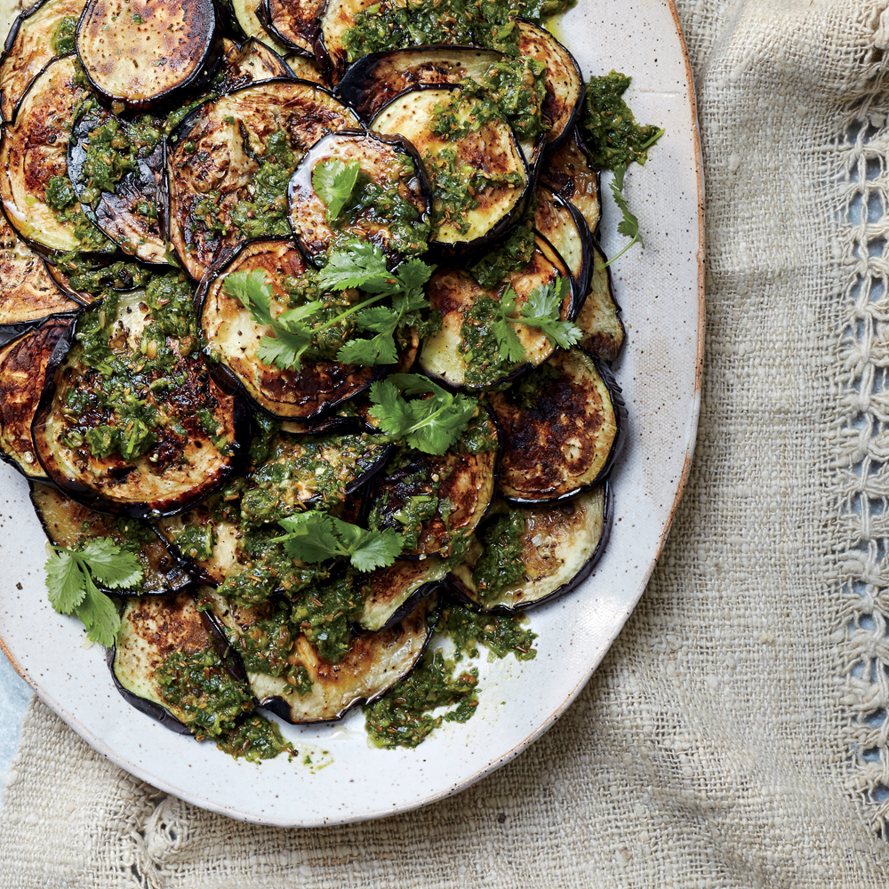 Charred Eggplant with Chermoula