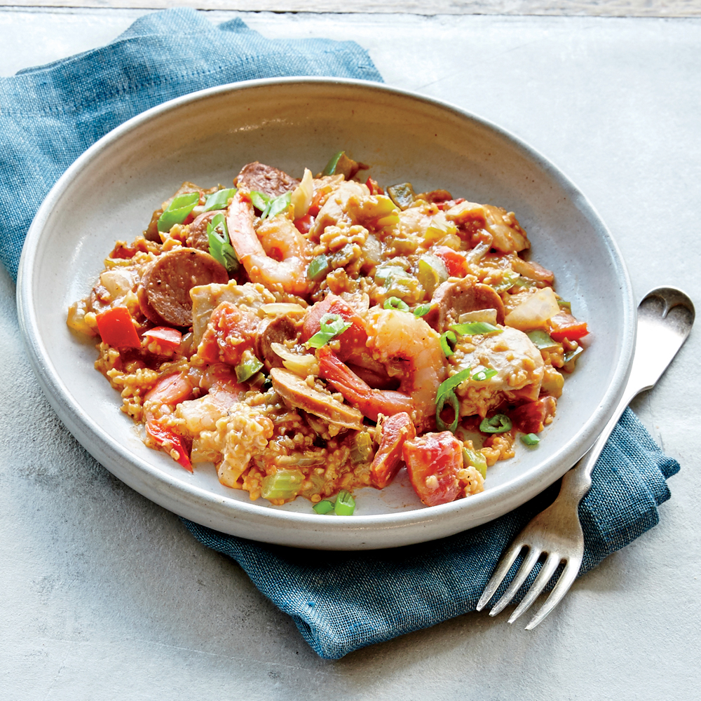 Steel Cut Oats Jambalaya