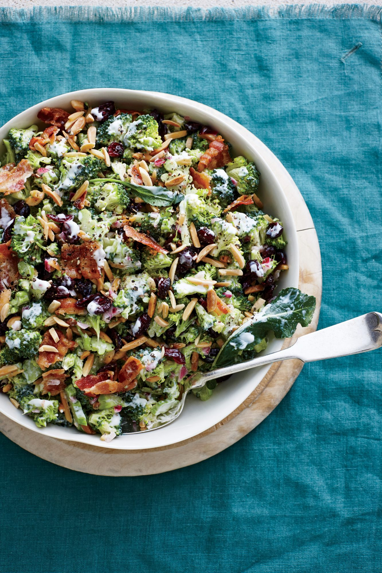 Cranberry Almond Broccoli Salad
