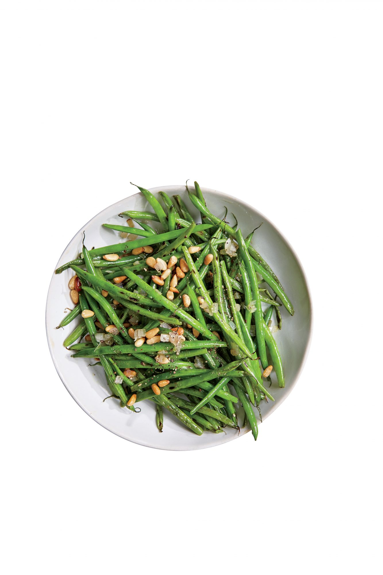 Haricots Verts with Shallots and Pine Nuts