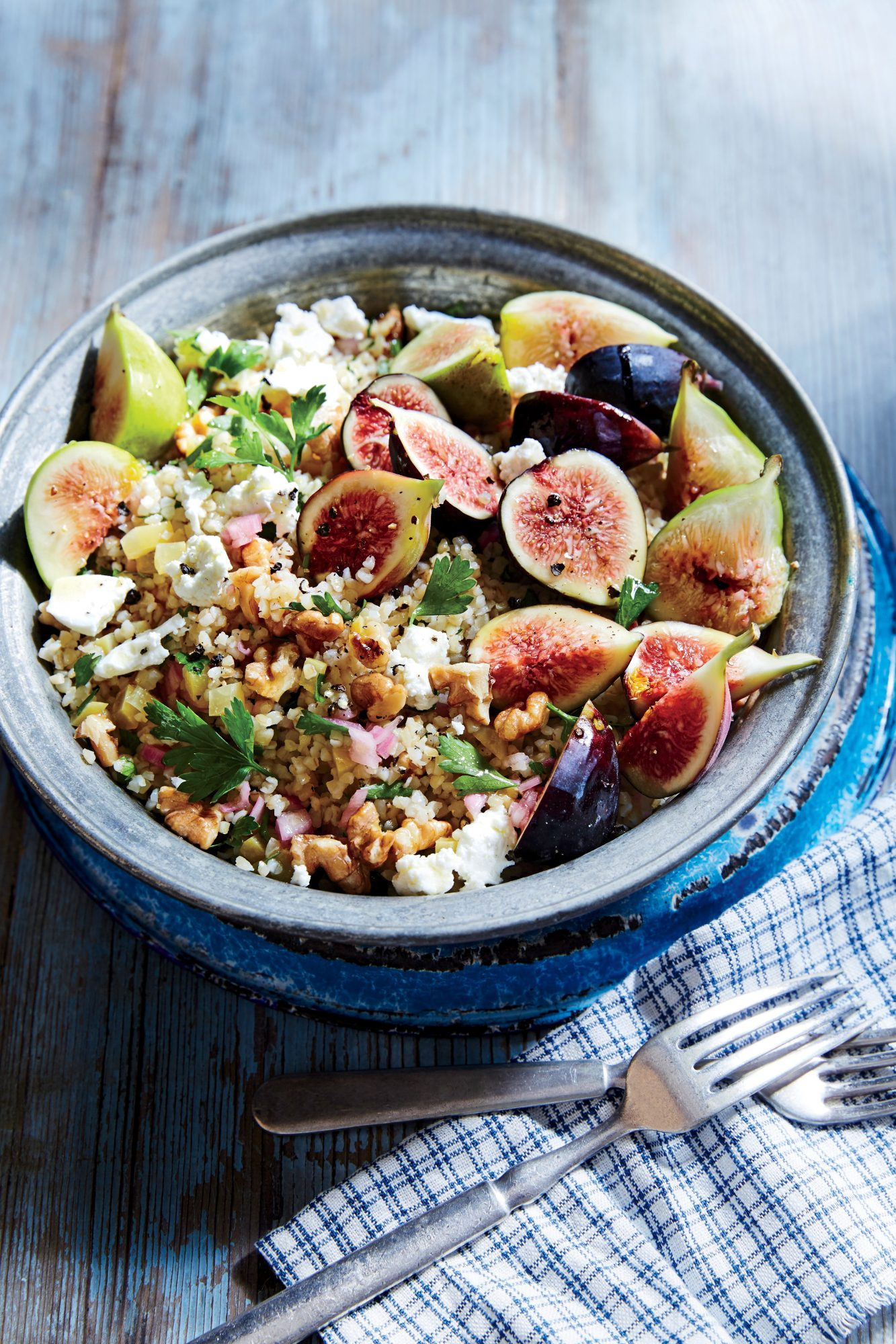 Bulgur Salad with Figs and Preserved Lemon
