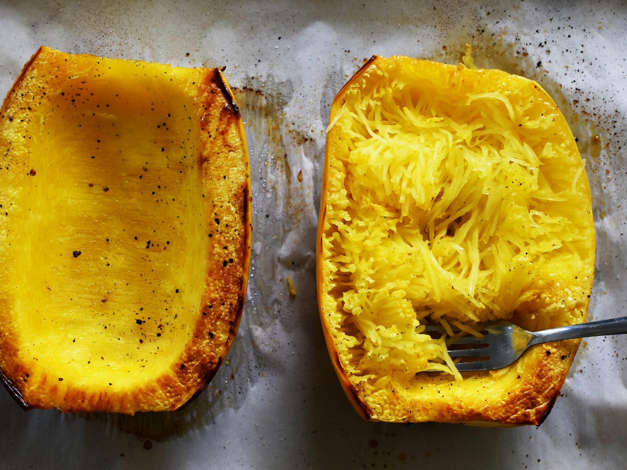 Scooped Out Spaghetti Squash