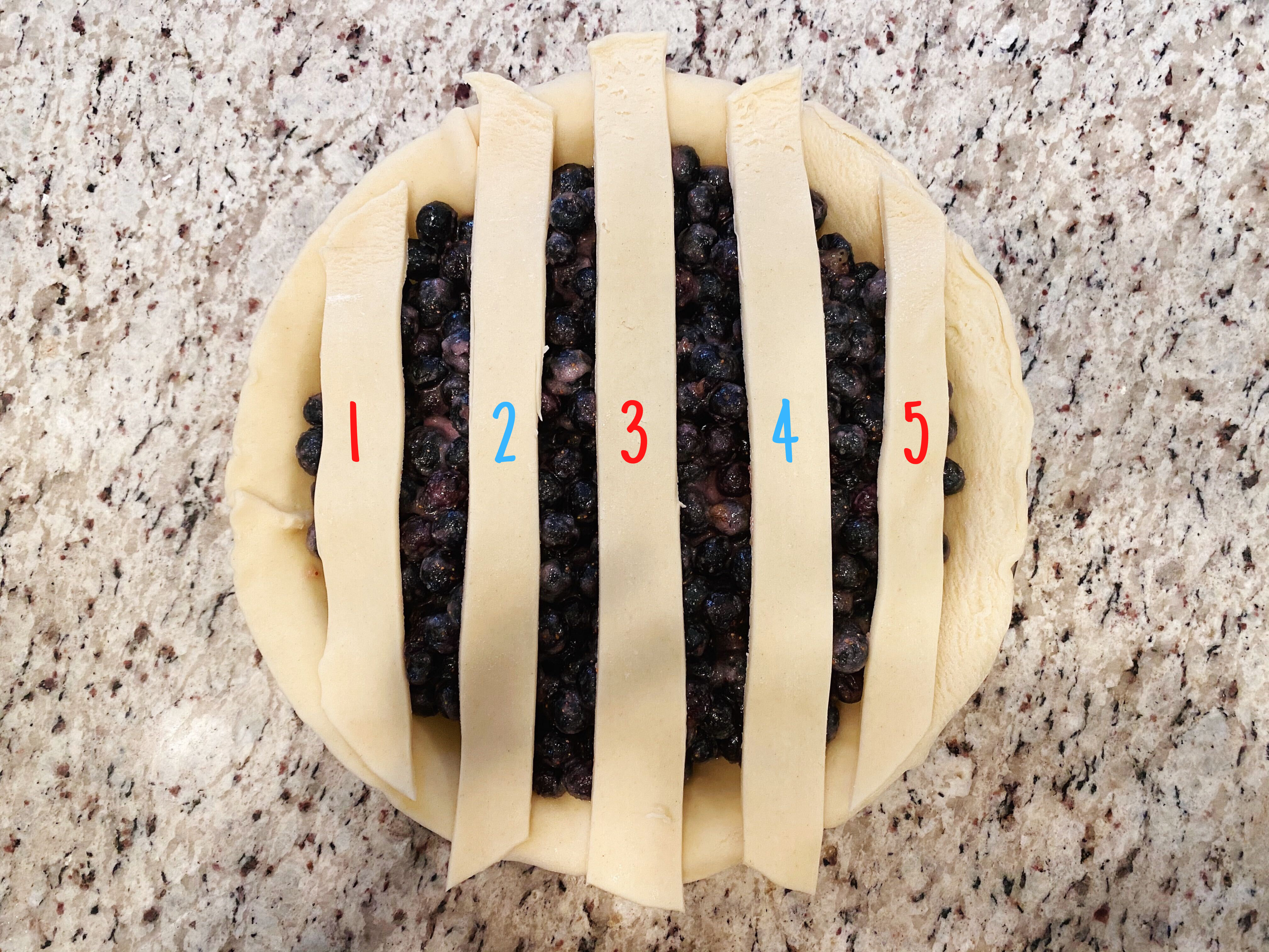 Lattice Pie Crust Step 1
