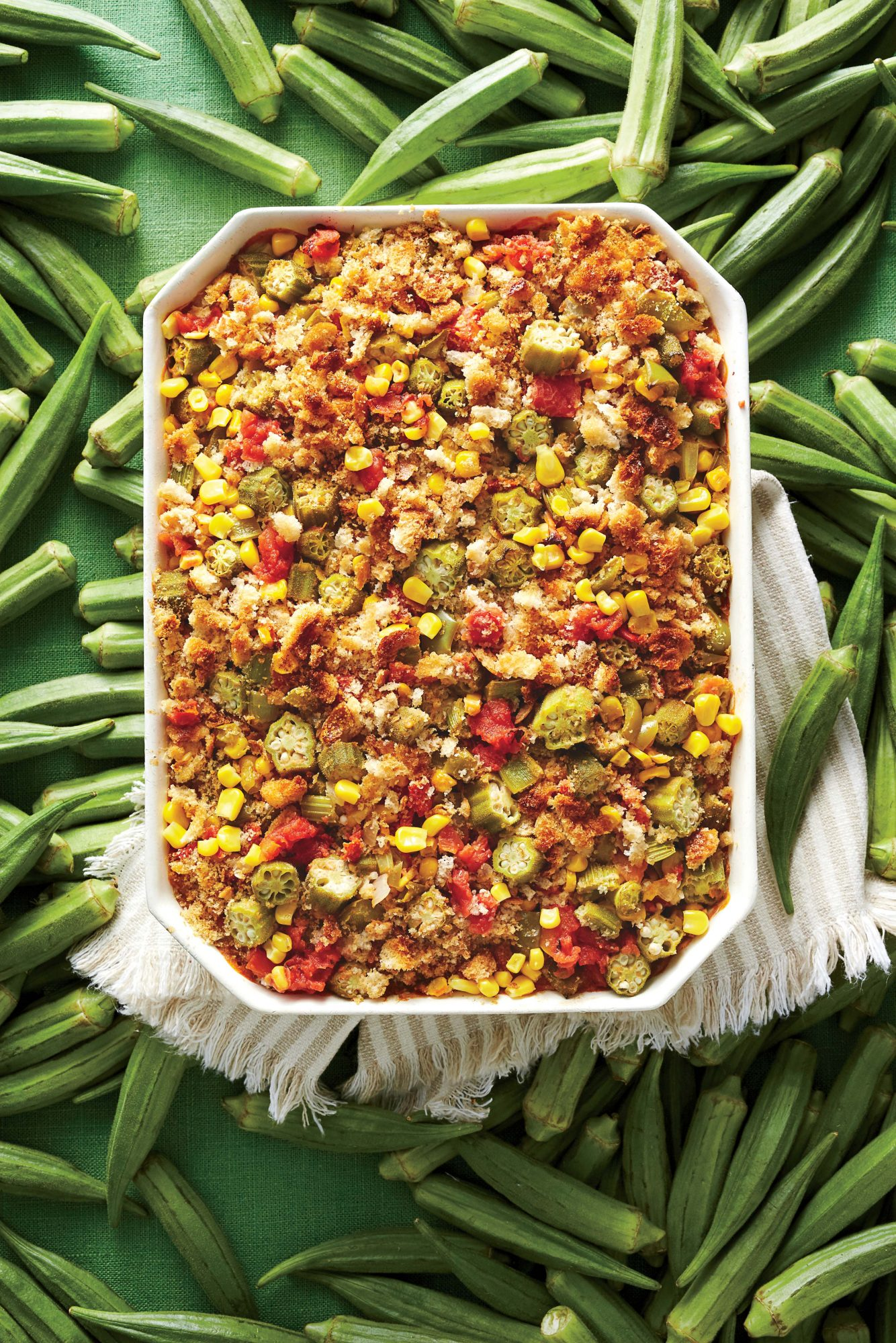 Okra and Rice Casserole