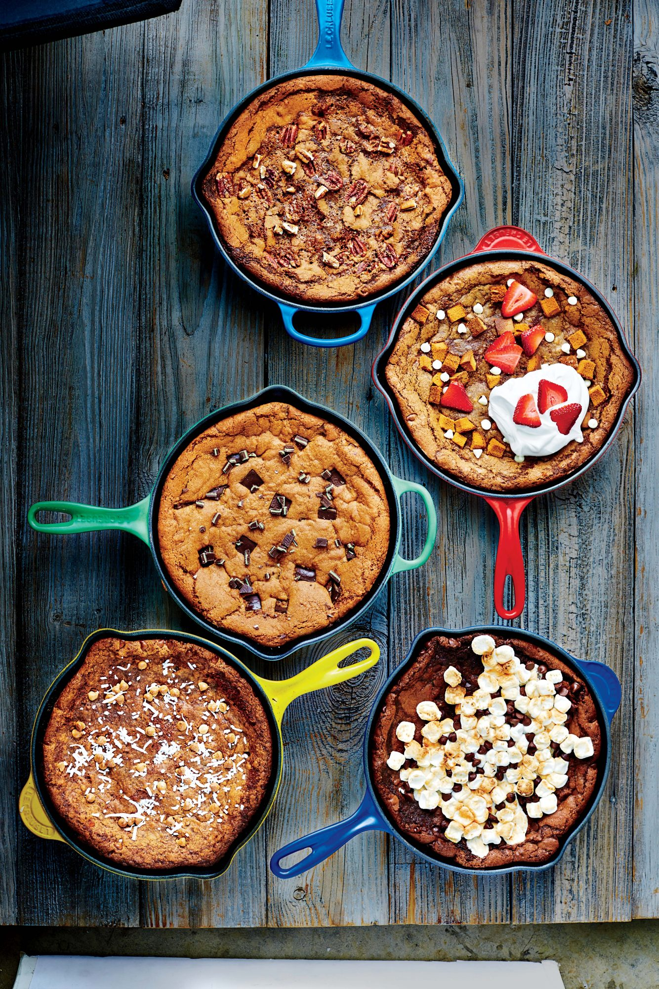 Strawberry Shortcake Deep-Dish Skillet Cookie