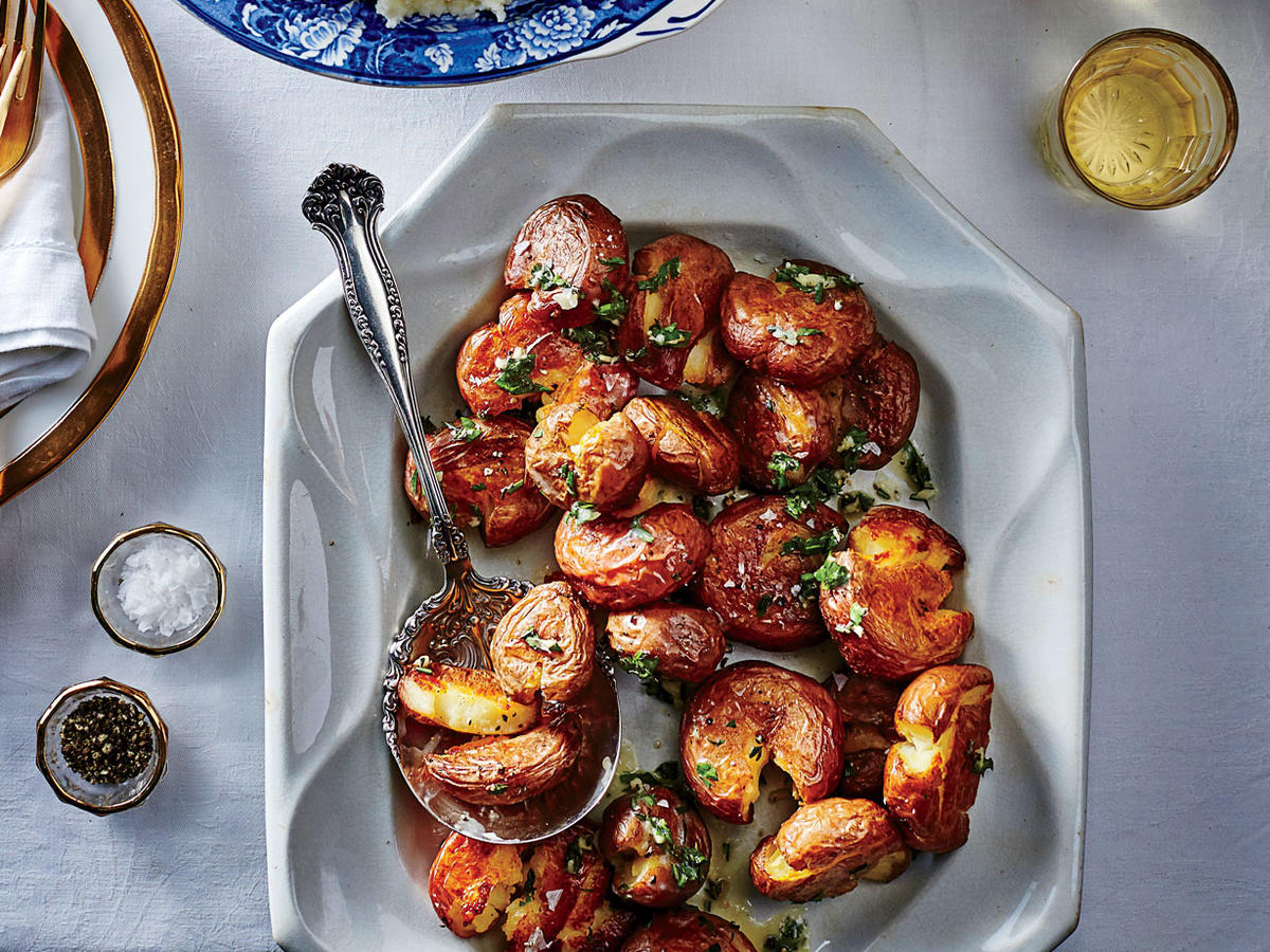 Smashed Baby Red Potatoes
