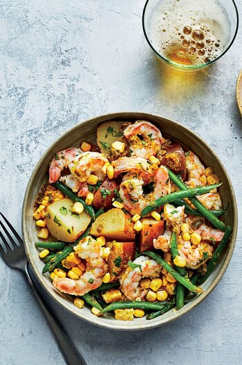 Shrimp Boil Vegetable Bowls