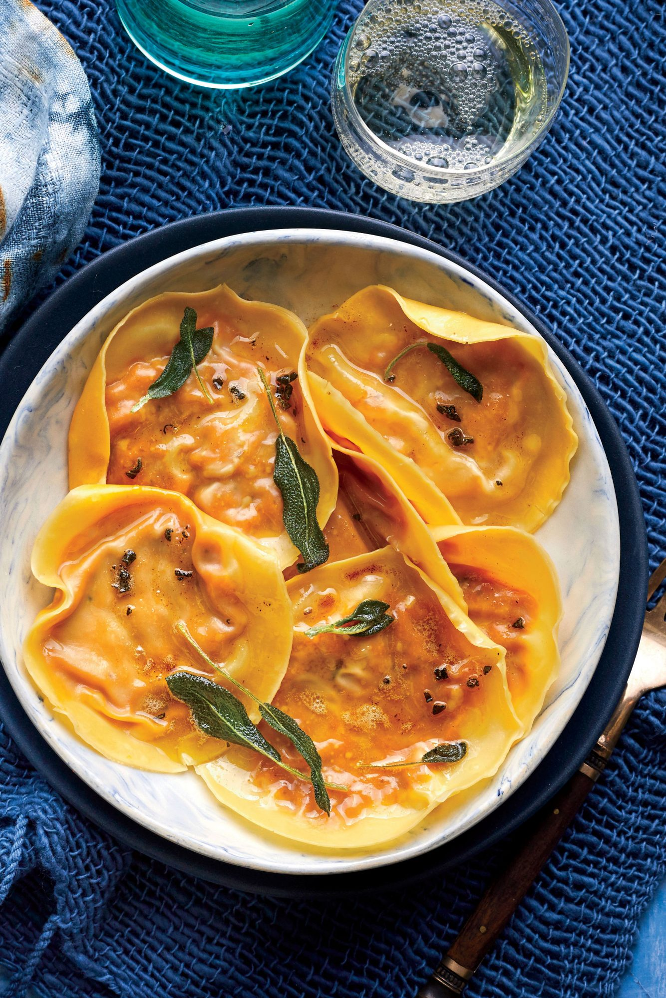 Pumpkin Ravioli with Sage Brown Butter