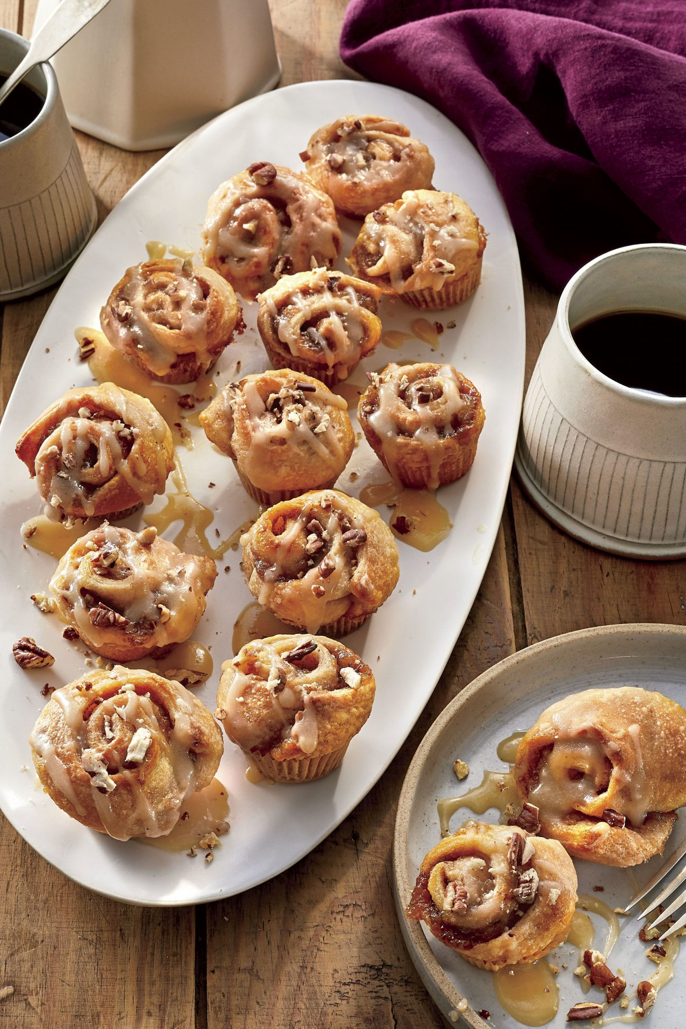 Mini Bananas Foster Sticky Buns