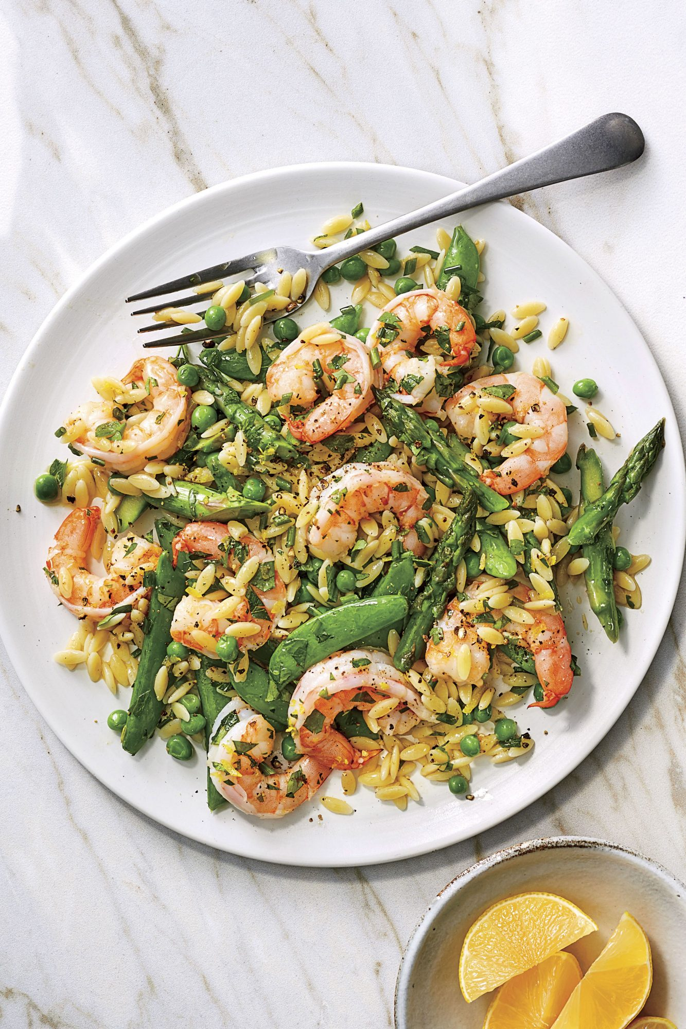 Spring Shrimp-and-Orzo Salad with Lemon Dressing