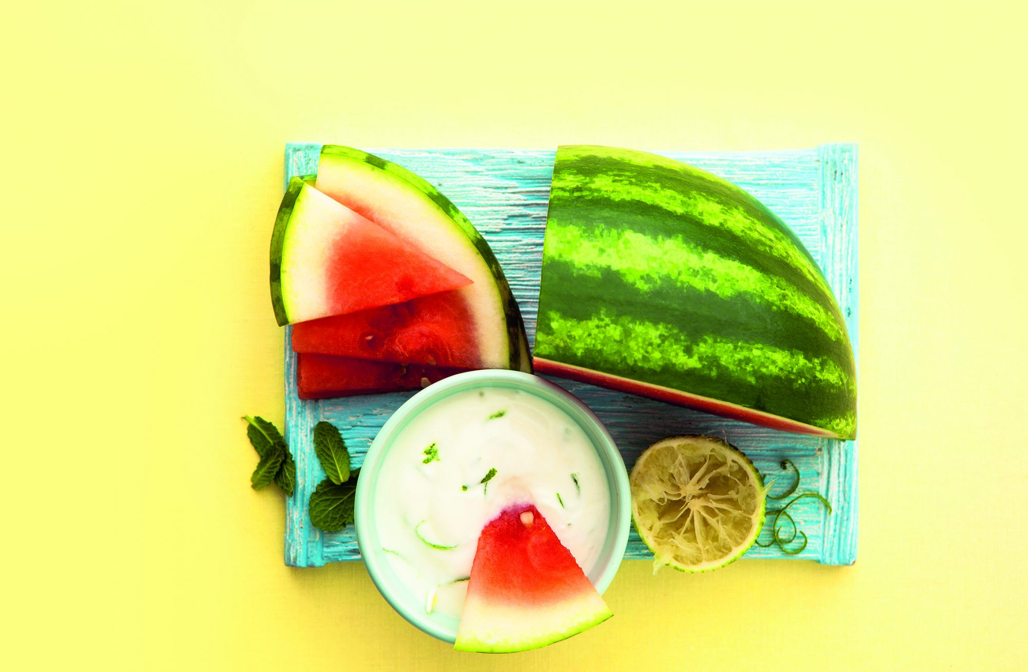 Citrus Yogurt with Watermelon Dippers