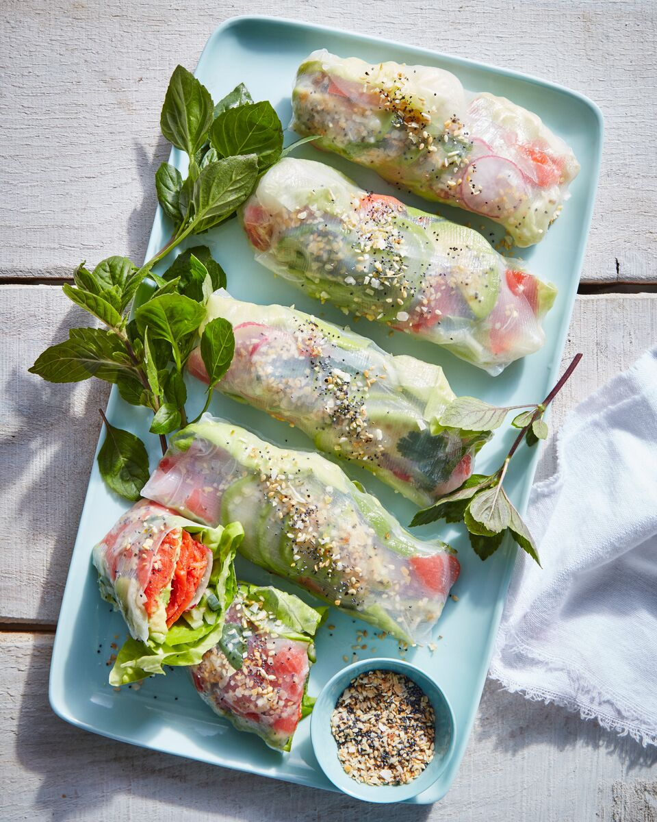 Everything Smoked-Salmon Summer Rolls