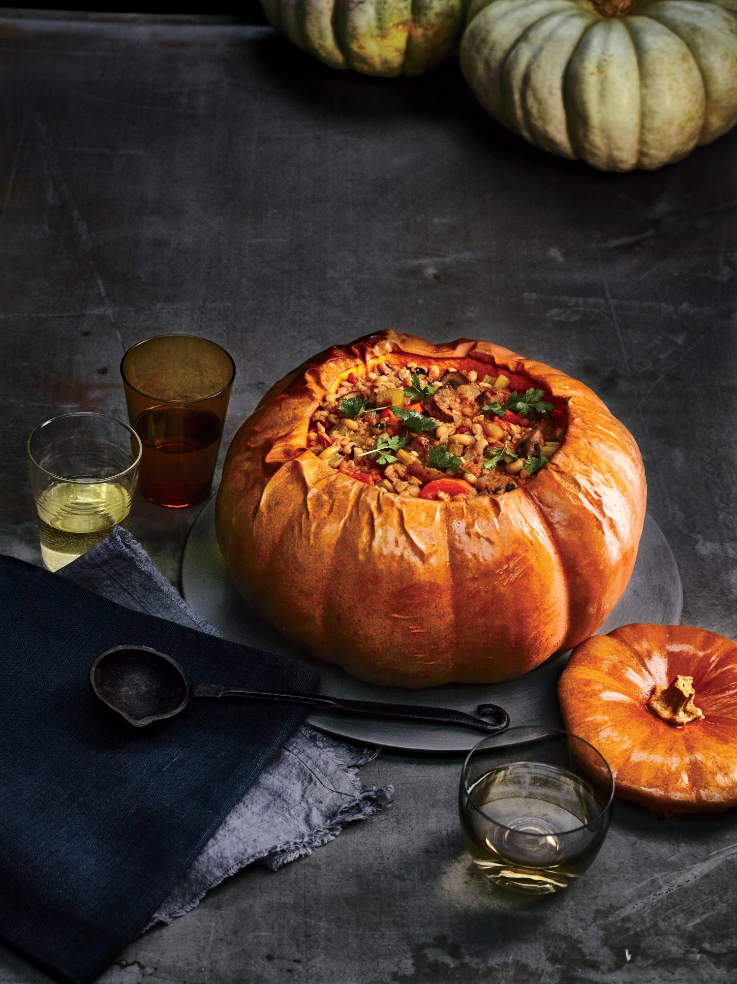 Whole Stuffed Roasted Pumpkin