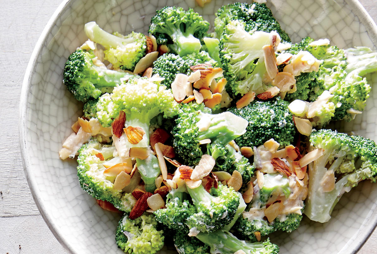 Cheddar and Almond Broccoli Salad