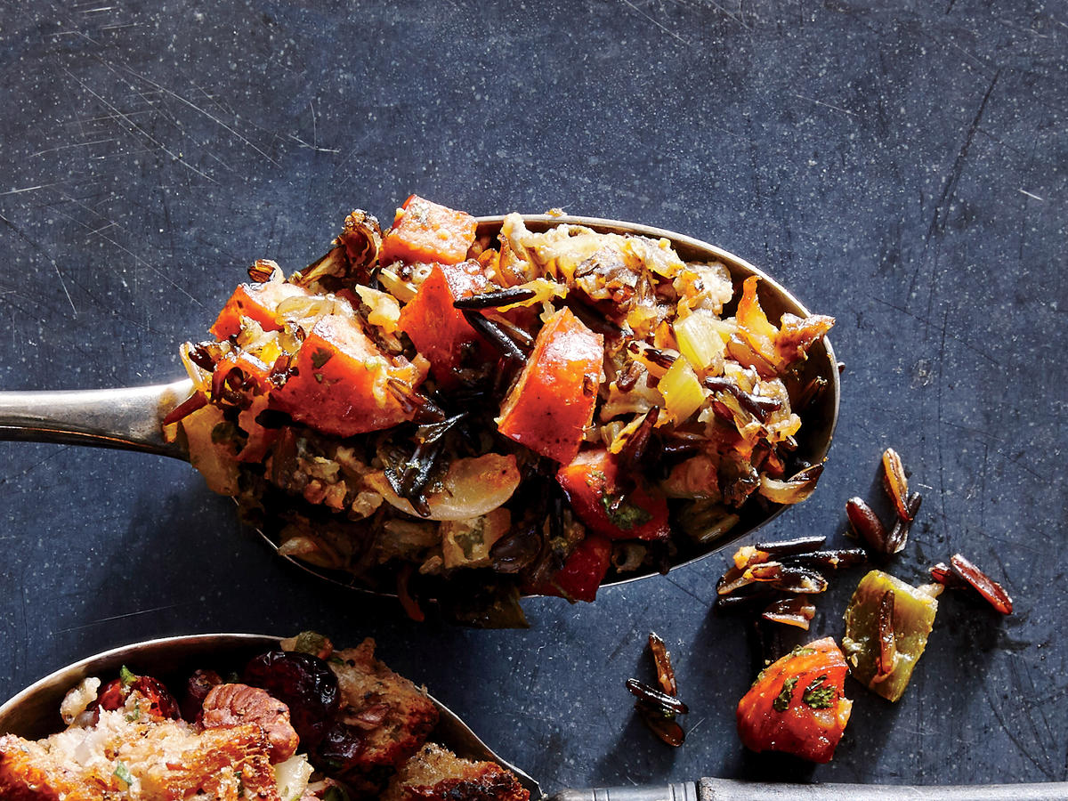 ck-Chorizo and Roasted Poblano Wild Rice Stuffing Image