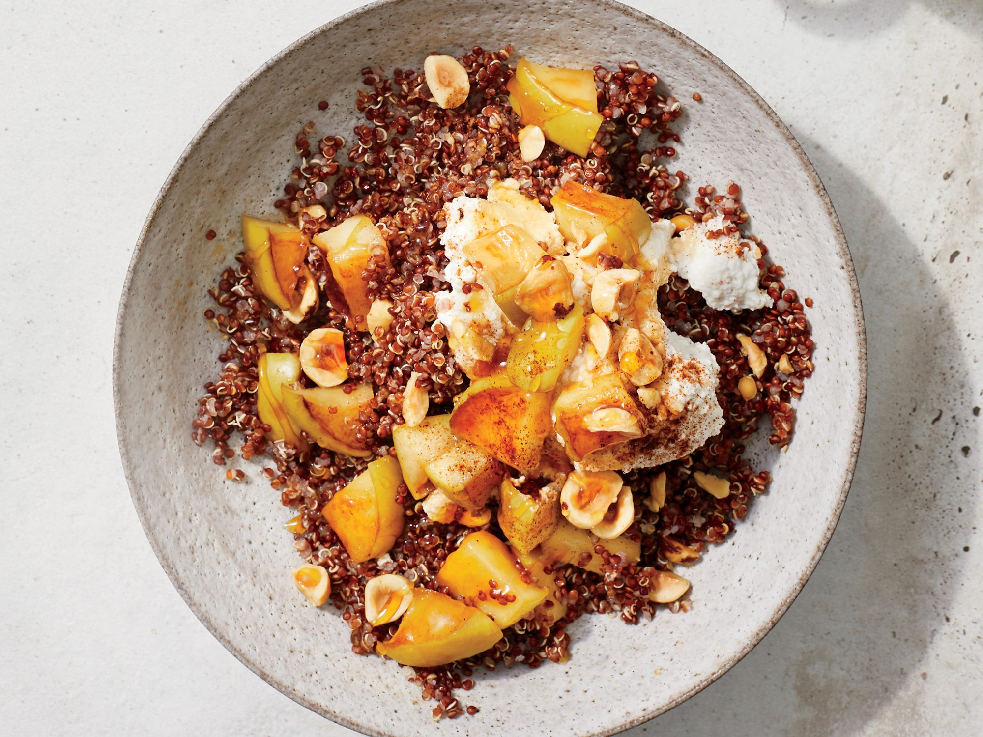 Apple Quinoa Bowl with Cinnamon Ricotta