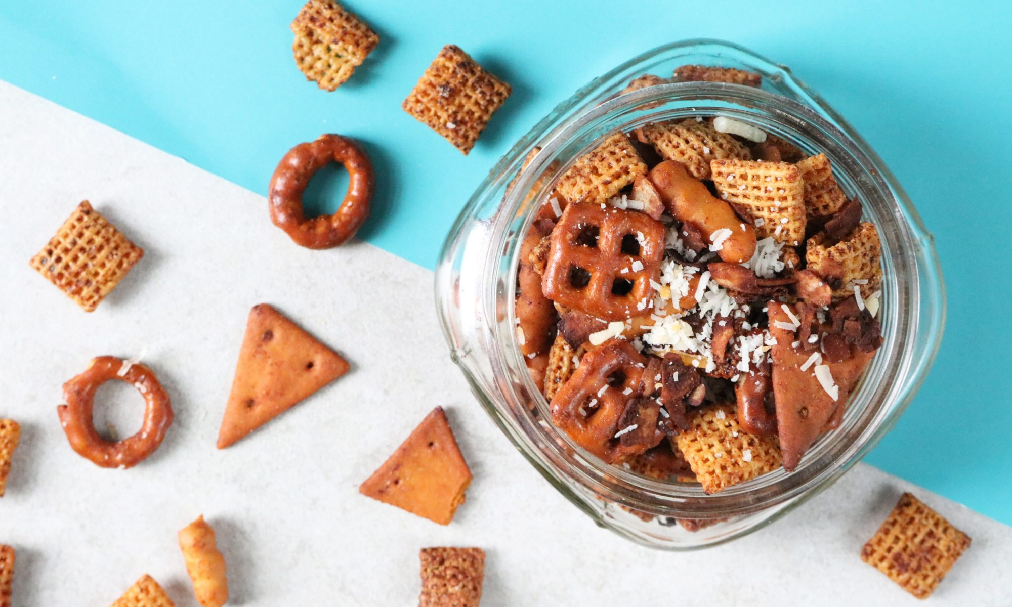 Bacon Fat Chex Mix