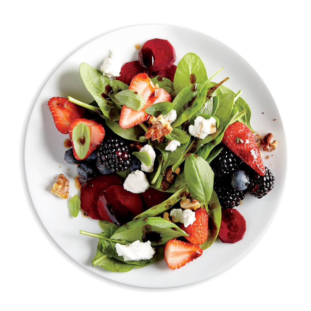 Balsamic, Beet, and Berry Salad