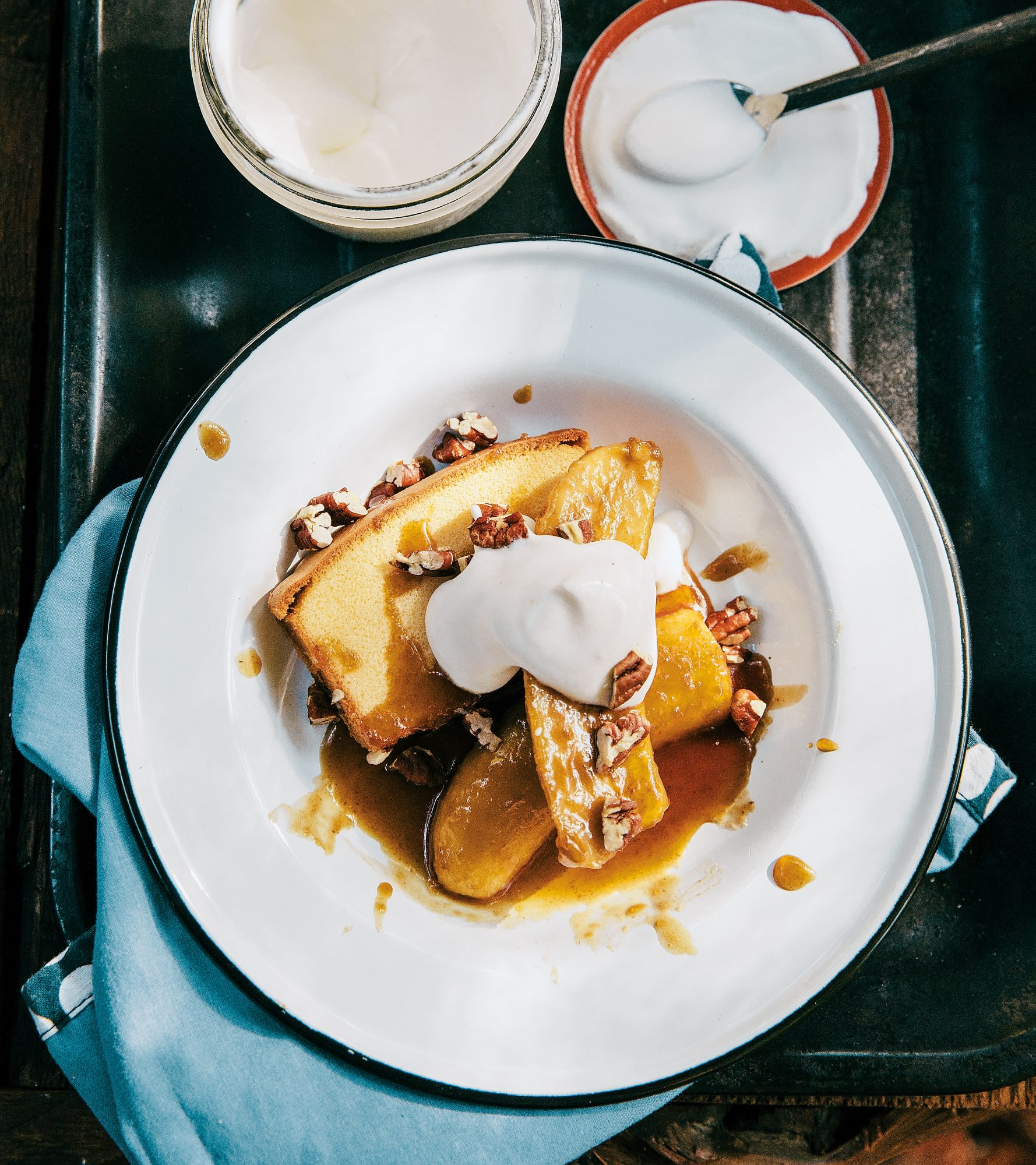Bananas Foster with Pound Cake