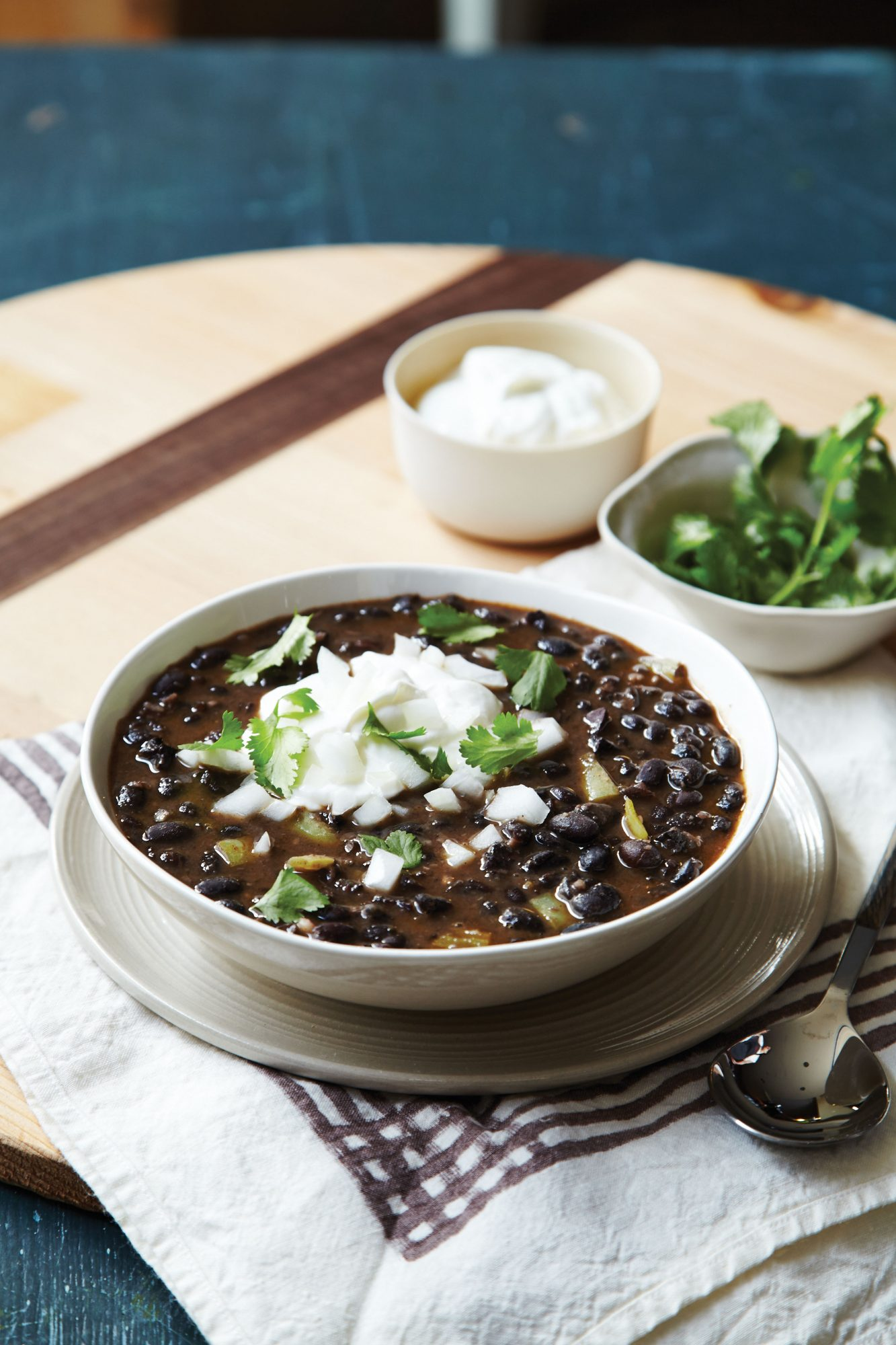 Spicy Black Bean Soup with Chorizo image