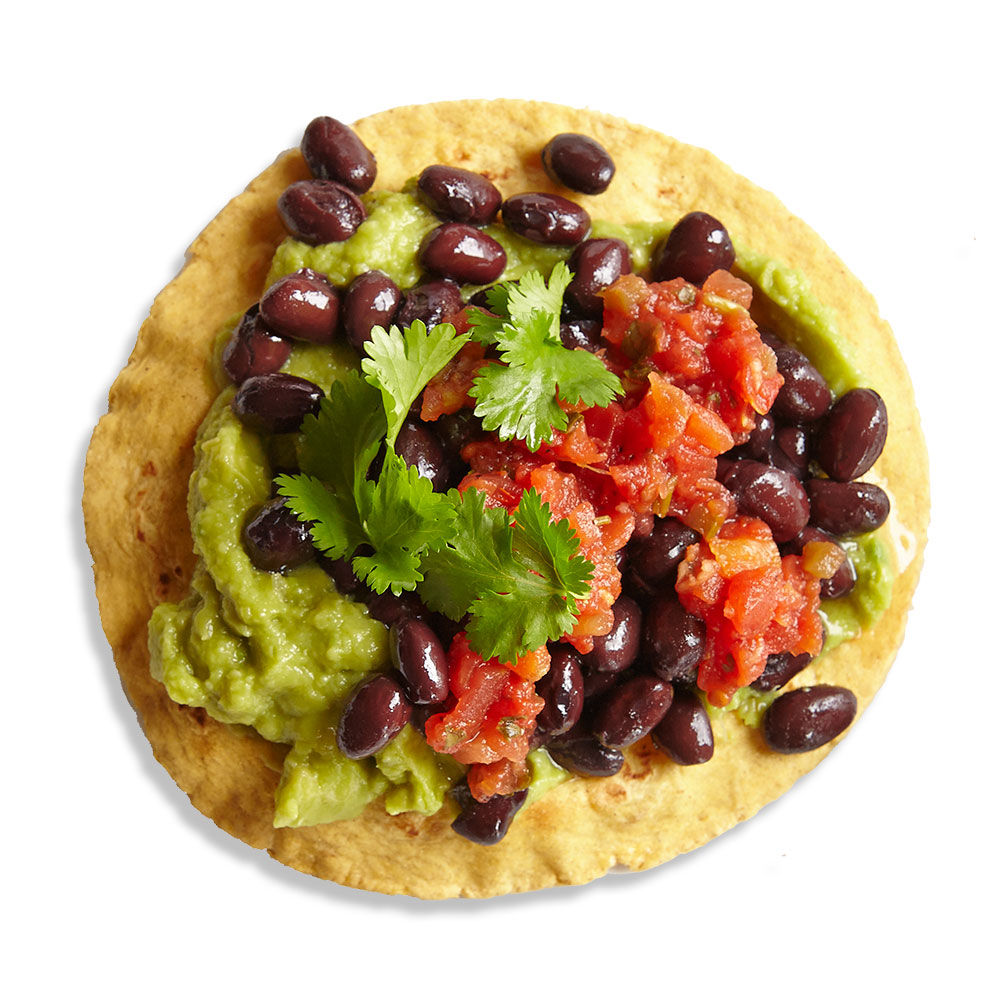 Vegetarian Black Bean Tostada
