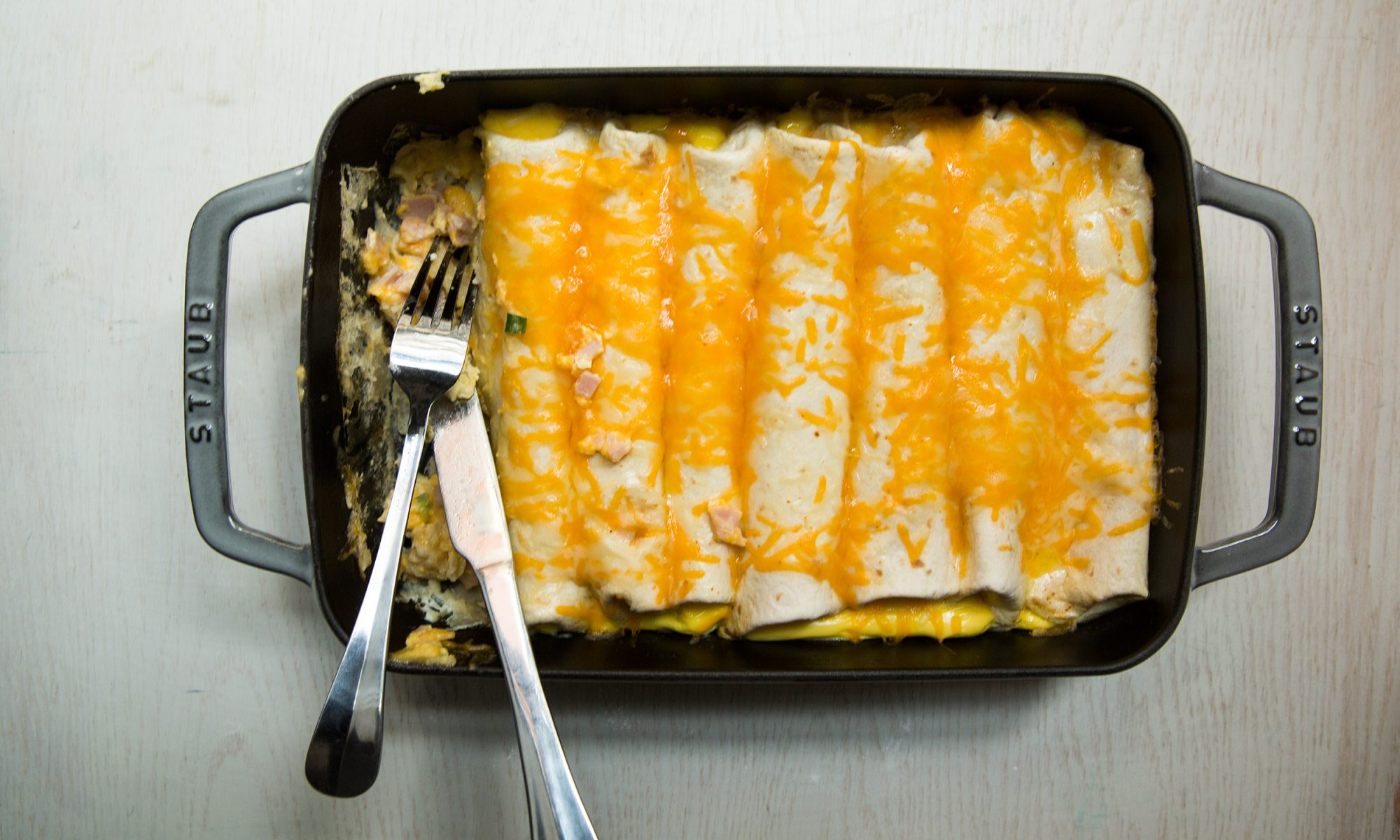 Make-Ahead Breakfast Enchiladas for Your Sunday Brunch Party