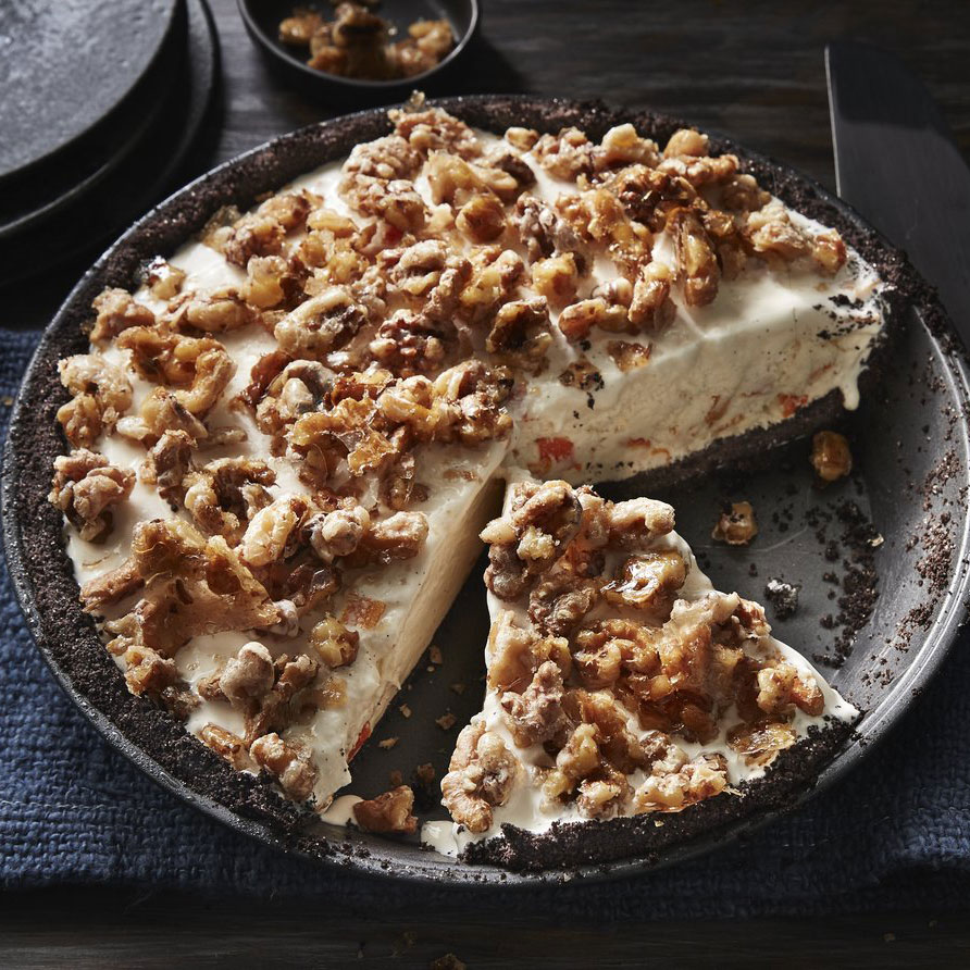 Candied-Orange Walnut Ice Cream Pie