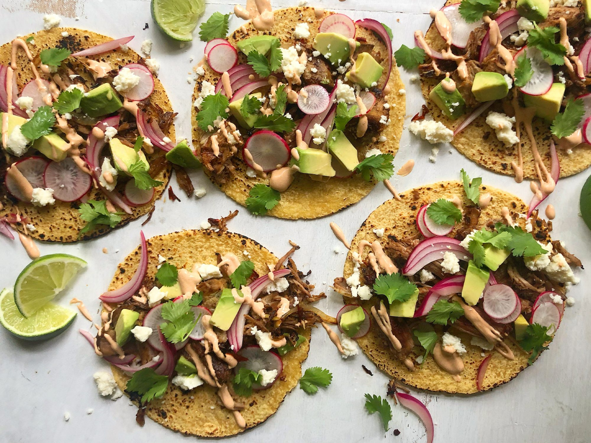 Carnitas Tacos With Chipotle Crema image