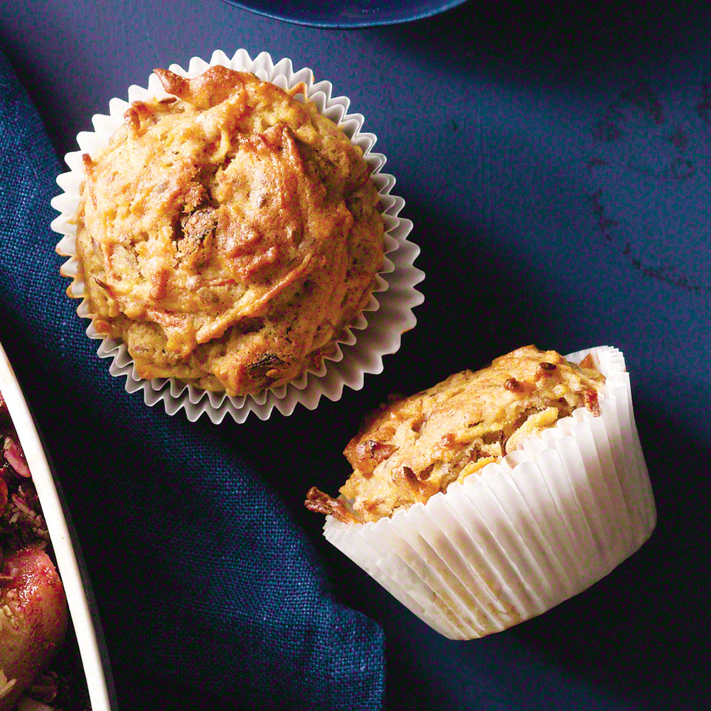 Carrot-Apple-Flax Muffins